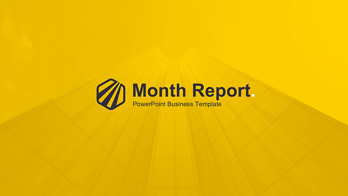 Month Report Powerpoint Template Regarding Monthly Report Template Ppt