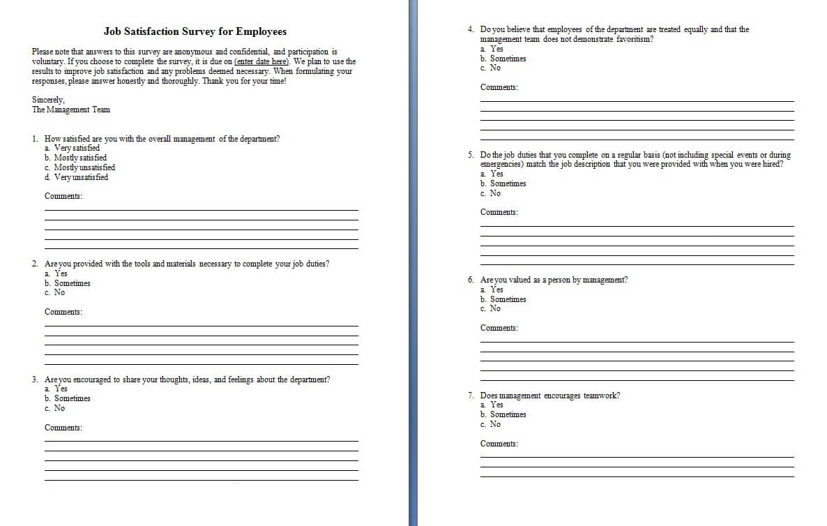 Ms Office Survey Template - Colona.rsd7 Pertaining To Questionnaire Design Template Word