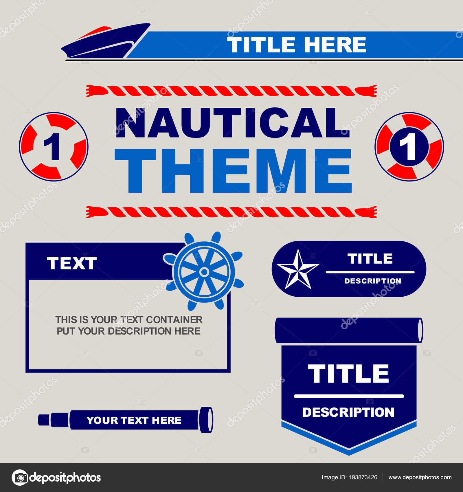 Nautical Theme Design Template You Can Use Flyers Banner Pertaining To Nautical Banner Template