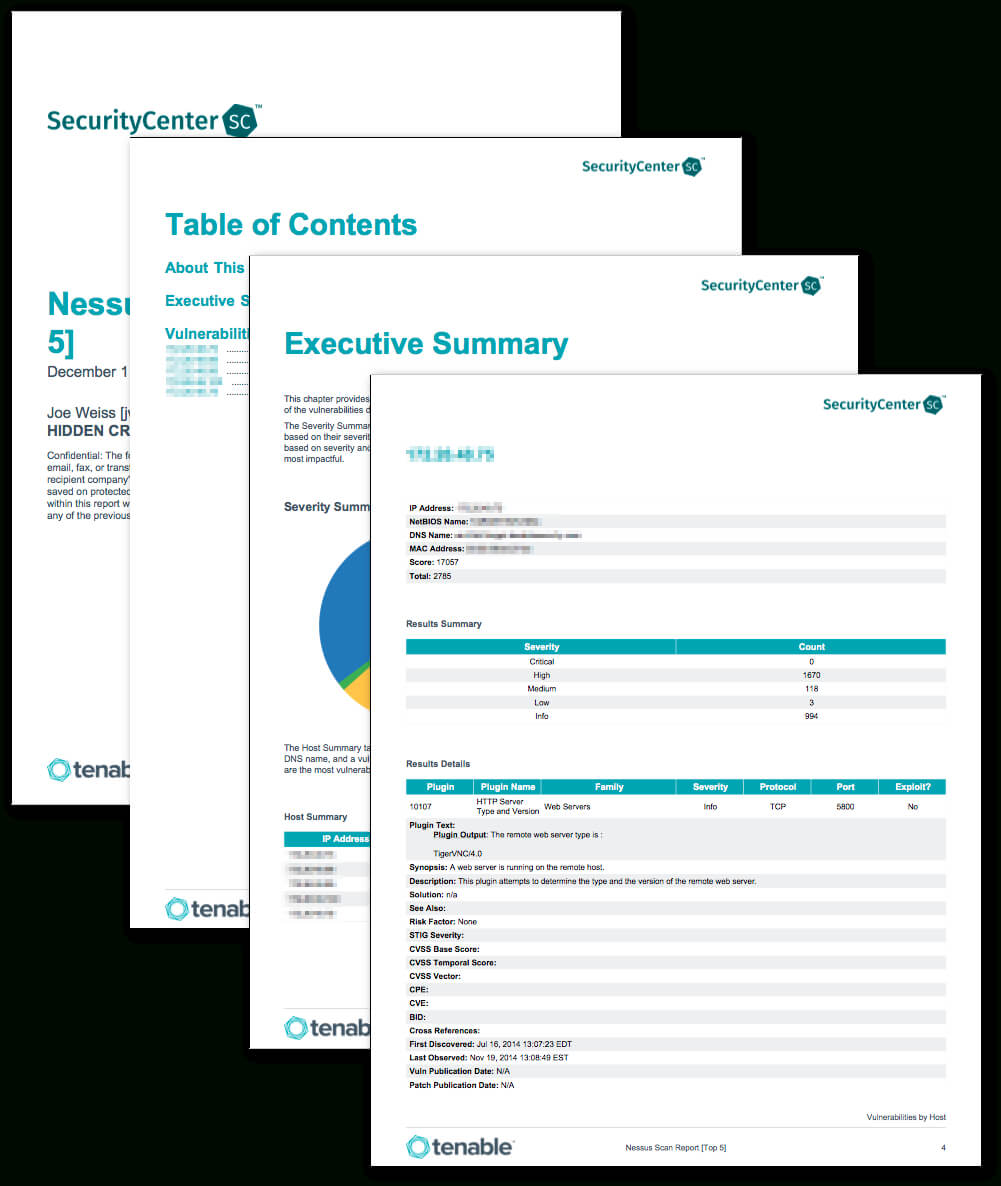 Nessus Scan Report (Top 5) - Sc Report Template | Tenable® Throughout Nessus Report Templates