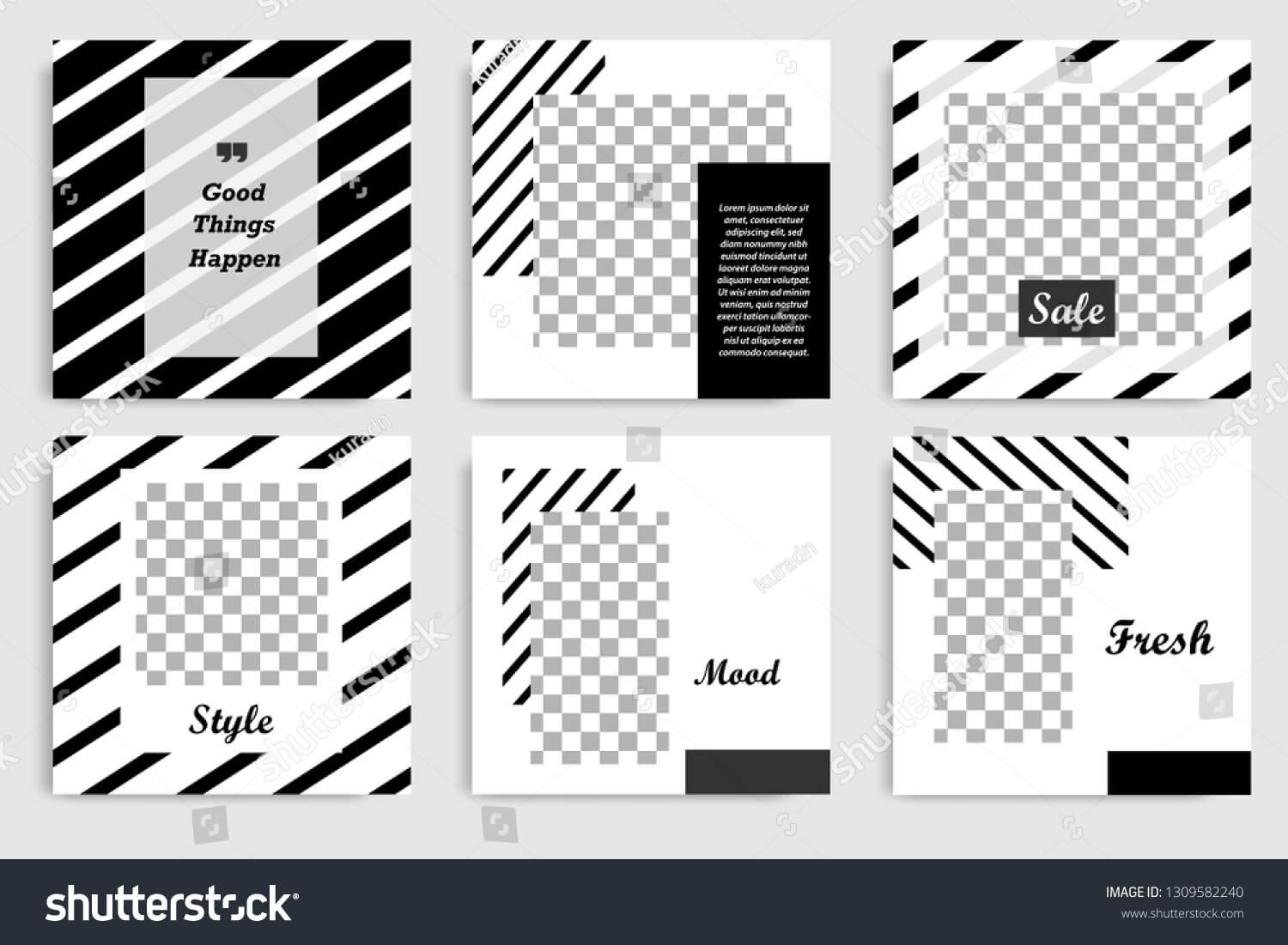 New Editable Minimal Square Banner Template Stock Vector With Regard To College Banner Template