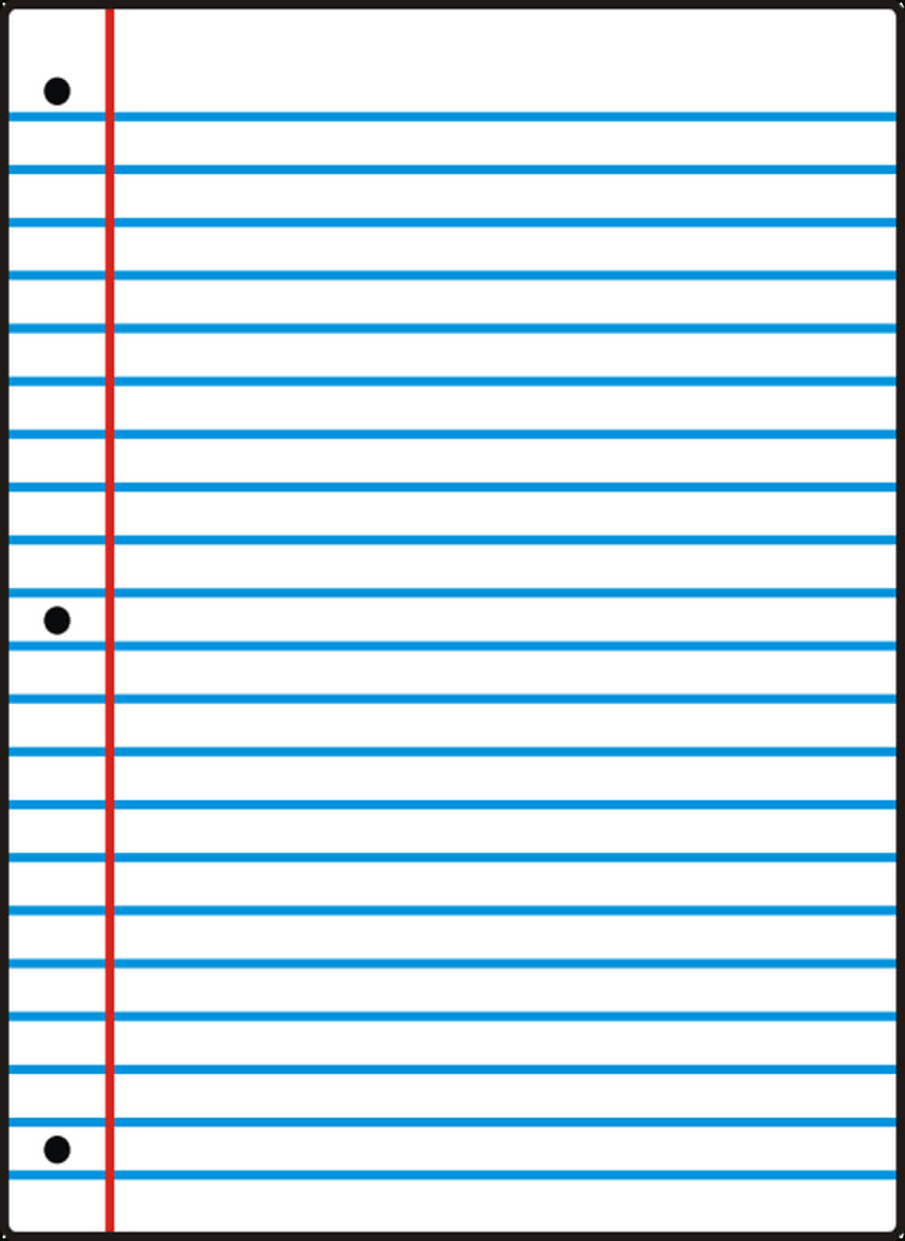 Notebook Paper Template For Word - Clip Art Library With Regard To Notebook Paper Template For Word