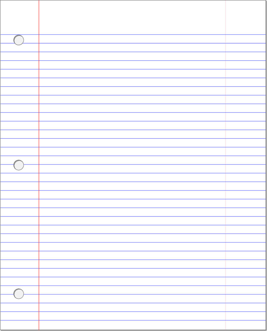 Notebook Paper Template Lined Doc Blank For Word Free Online With Regard To Microsoft Word Lined Paper Template