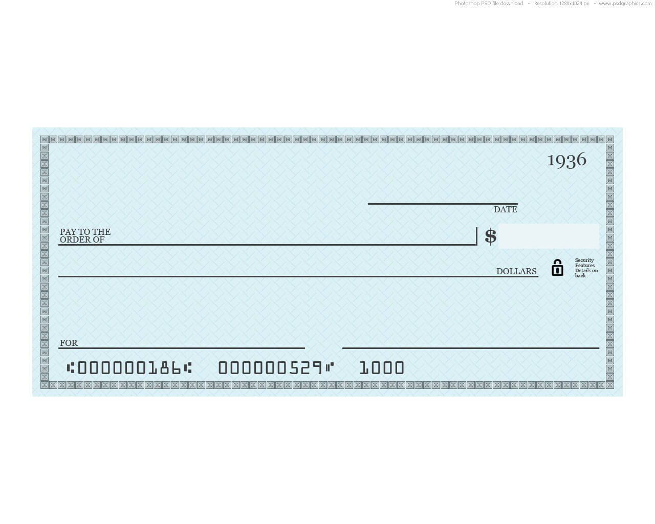 Novelty Check Template - Tunu.redmini.co With Large Blank Cheque Template
