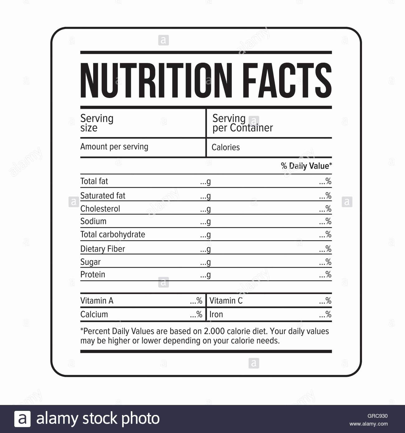 Nutrition Label Template Word - Raptor.redmini.co Inside Nutrition Label Template Word