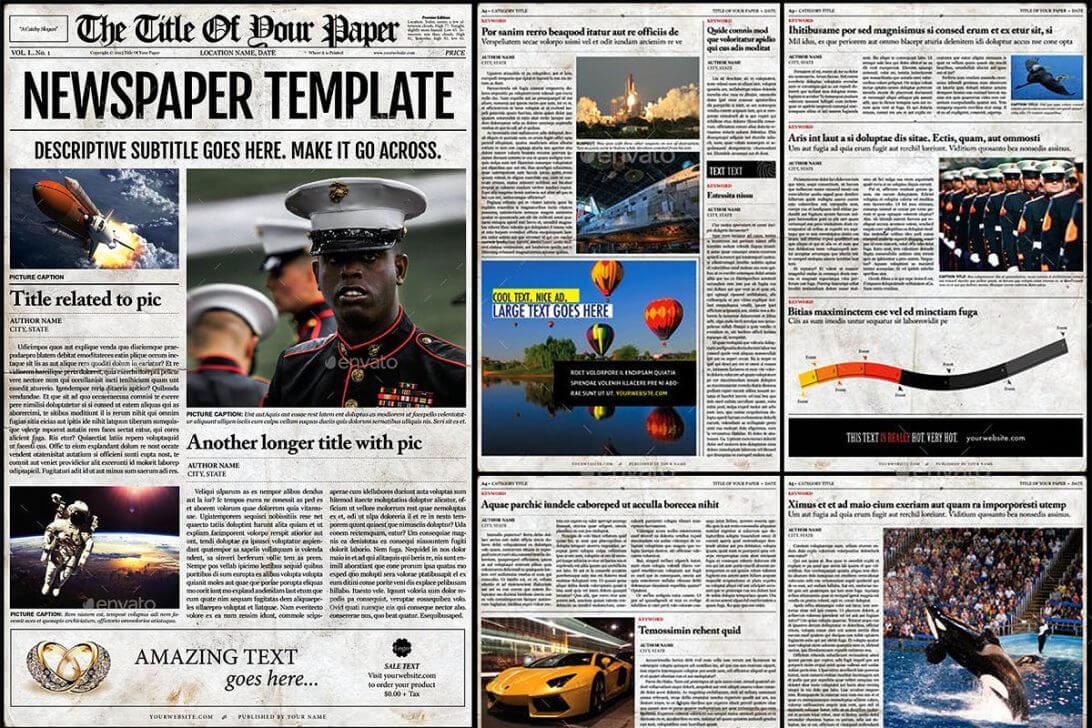Old Newspaper Template Microsoft Word Free Download Psd For Magazine Template For Microsoft Word