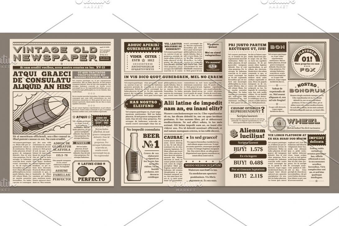 Old Newspaper Template Style Free Photoshop WordPress With Regard To Blank Newspaper Template For Word