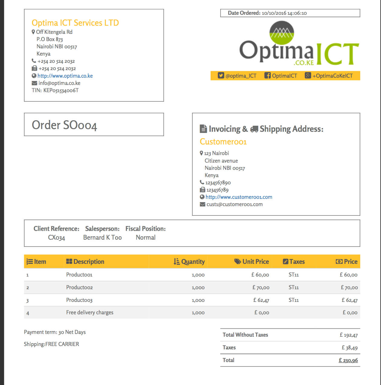 Order2 Html Report Template Github Free Example In Asp Net In Html Report Template Free
