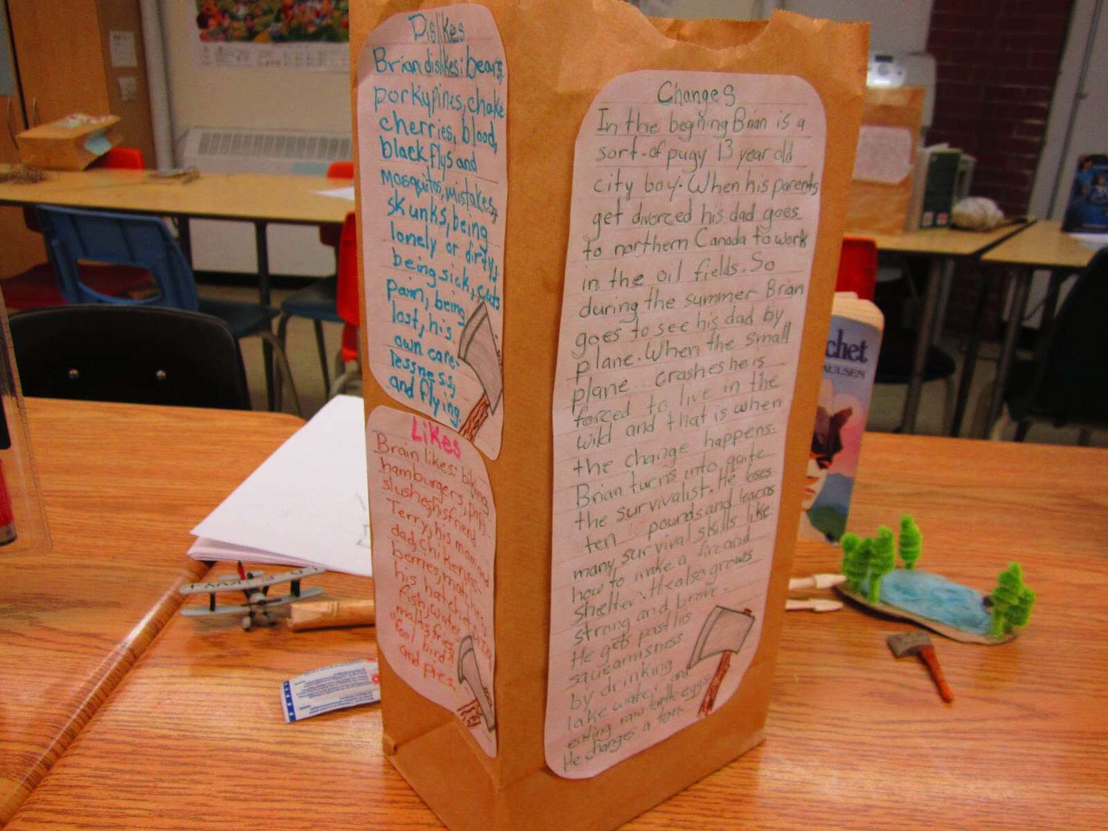 Paper Bag Characterization | Runde's Room With Paper Bag Book Report Template