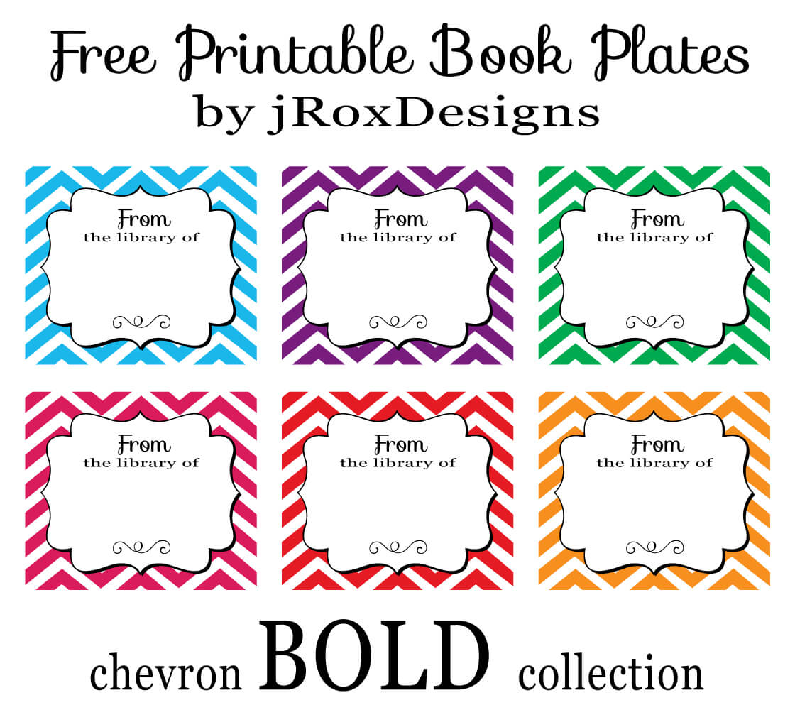 Personalized Your Library With Free Printable Chevron Book Regarding Bookplate Templates For Word