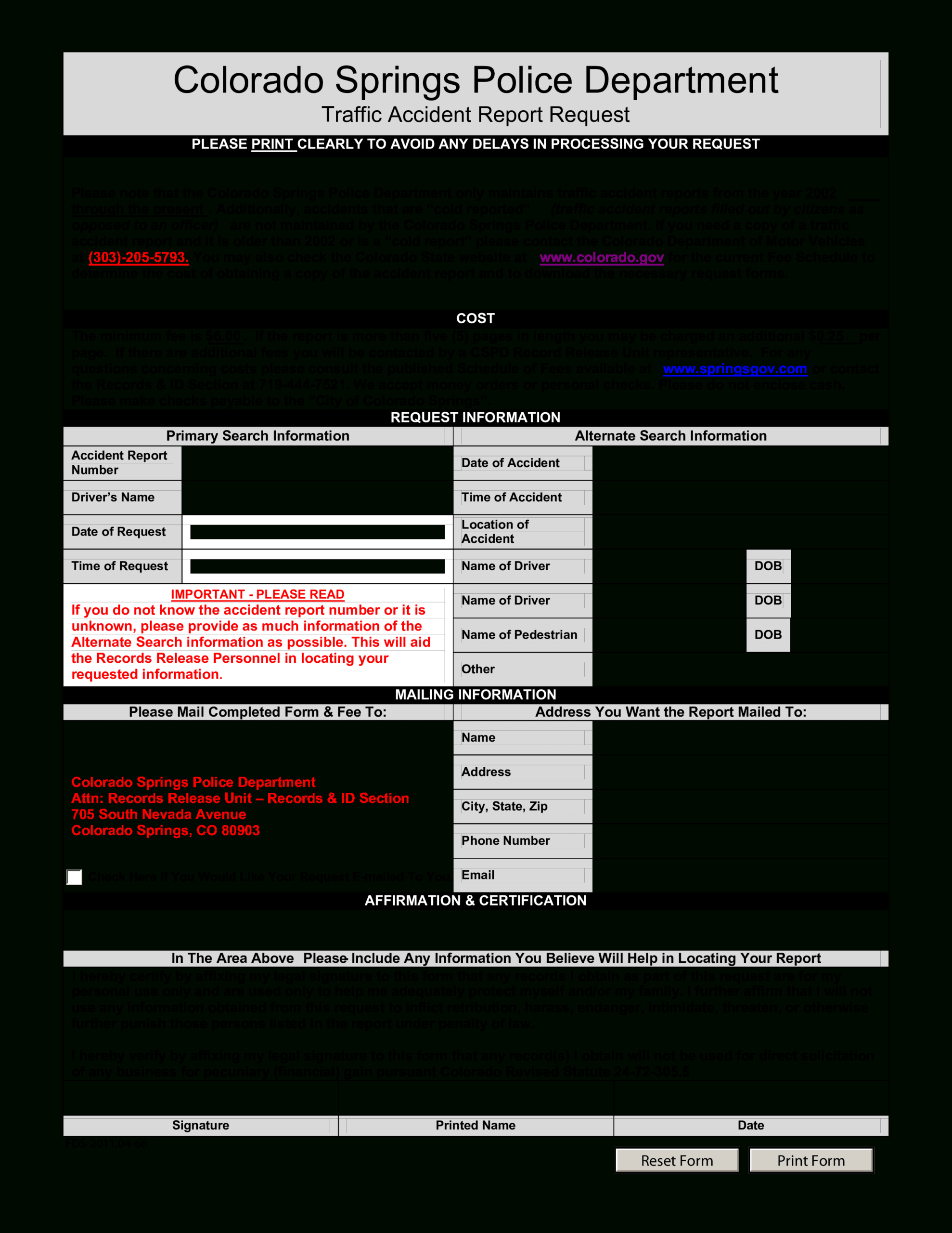 Police Accident Report | Templates At Allbusinesstemplates Regarding Vehicle Accident Report Template