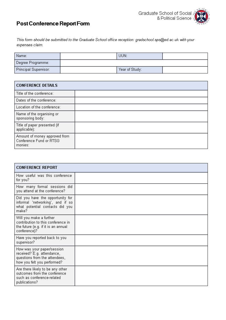 Post Conference Report   Templates At Allbusinesstemplates Regarding Conference Report Template