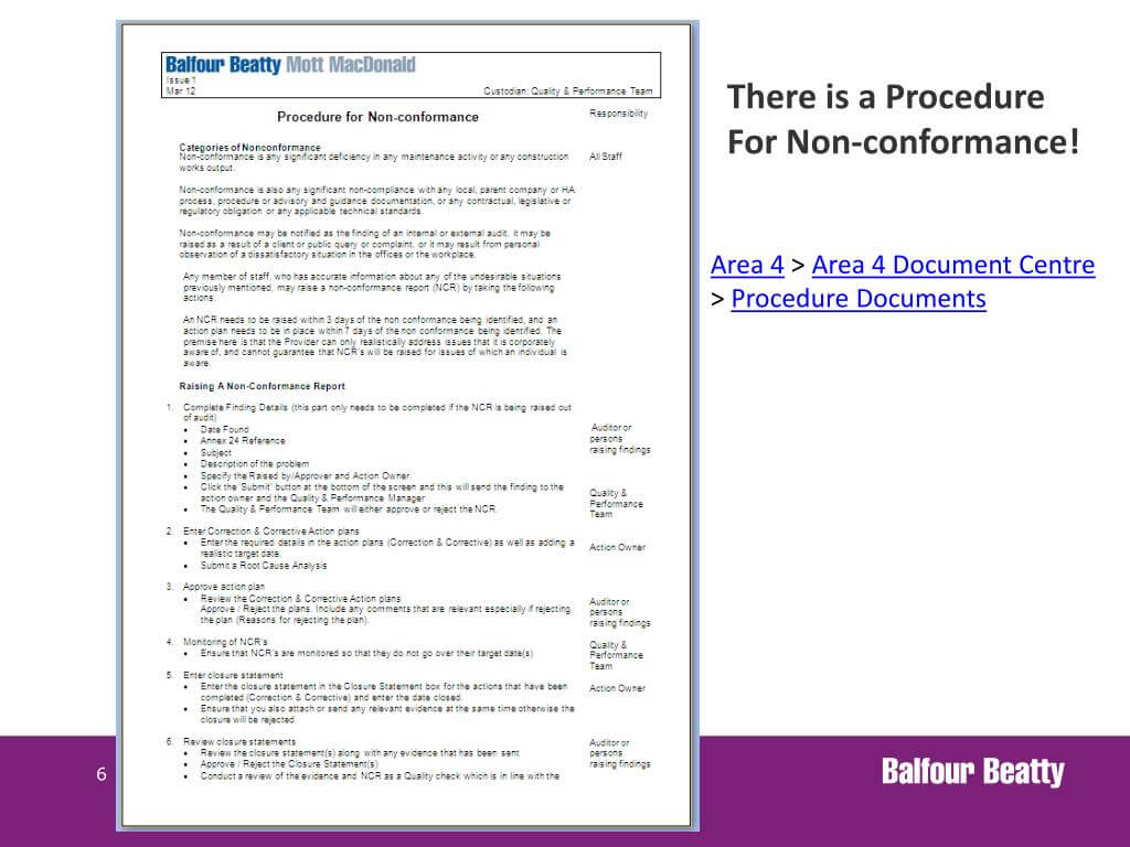 Ppt – Non Conformance Reporting Powerpoint Presentation Intended For Non Conformance Report Template