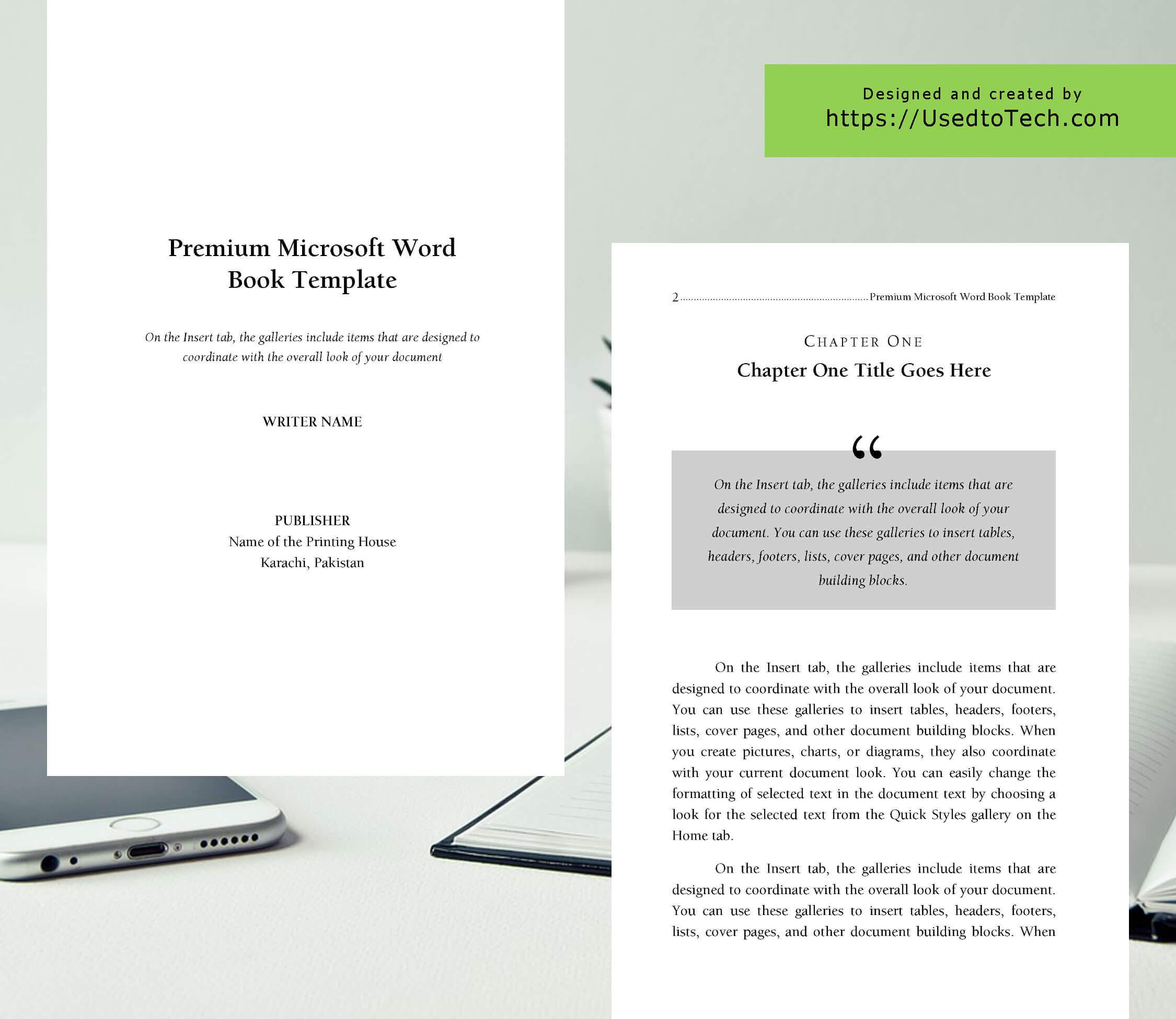 Premium & Free 6 X 9 Book Template For Microsoft Word - Used Intended For 6X9 Book Template For Word