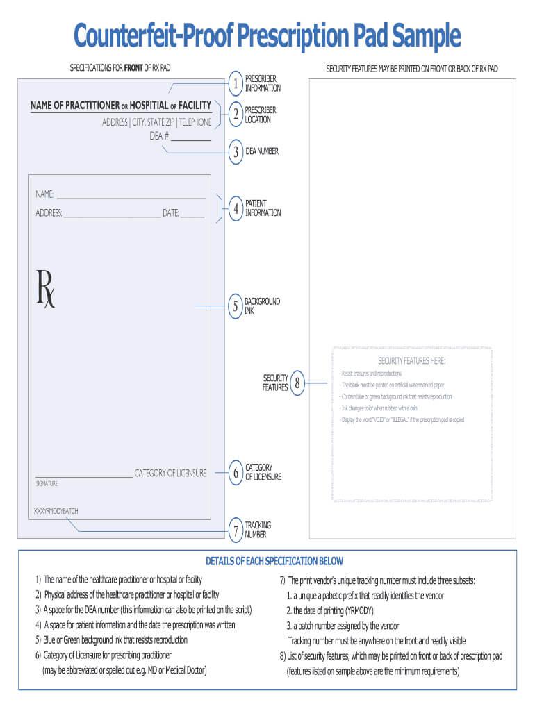 Prescription Pad Template - Fill Online, Printable, Fillable Pertaining To Doctors Prescription Template Word