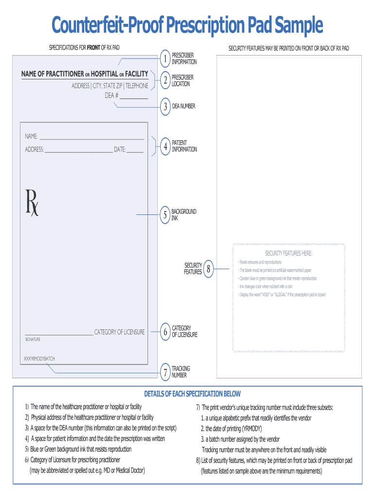 Prescription Pad Template - Fill Online, Printable, Fillable Within Blank Prescription Pad Template
