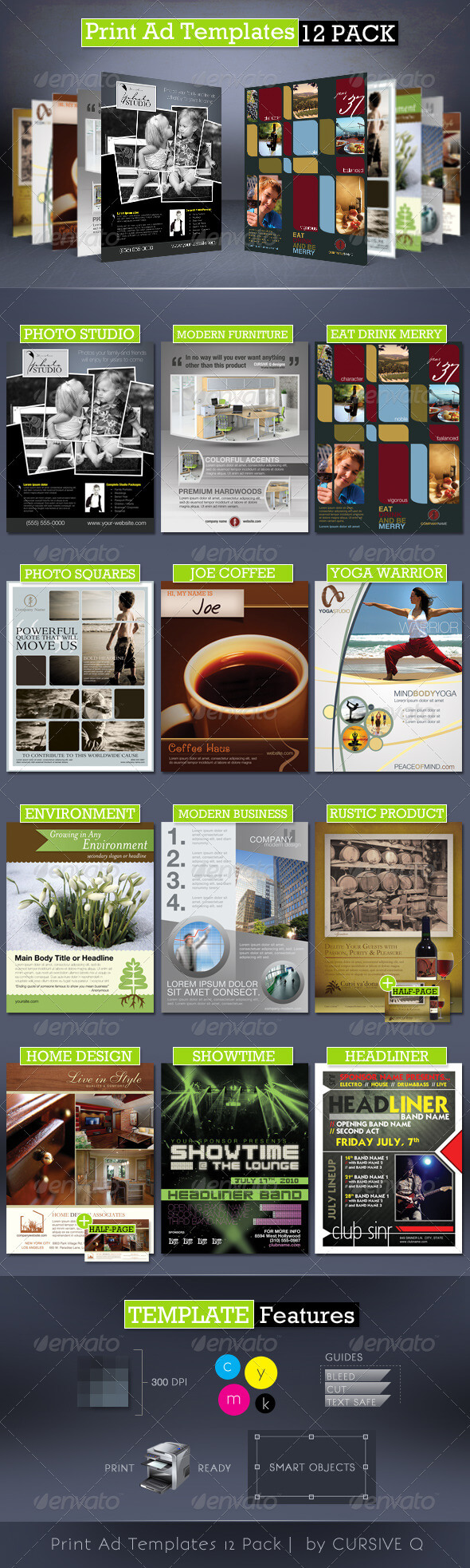Print Ad Template Graphics, Designs & Templates Intended For Magazine Ad Template Word