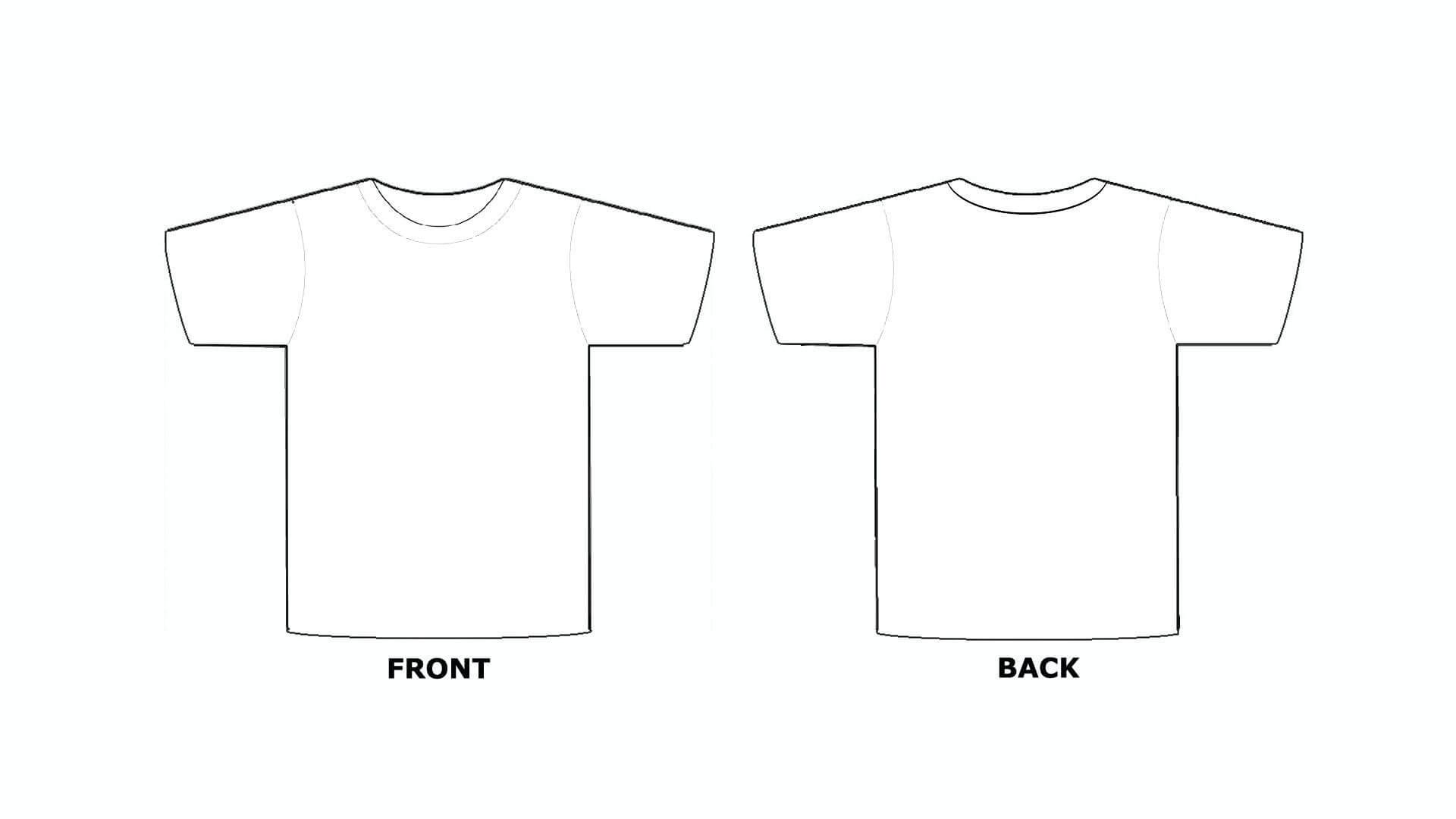 Printable Blank Tshirt Template - C Punkt Pertaining To Blank Tshirt Template Printable