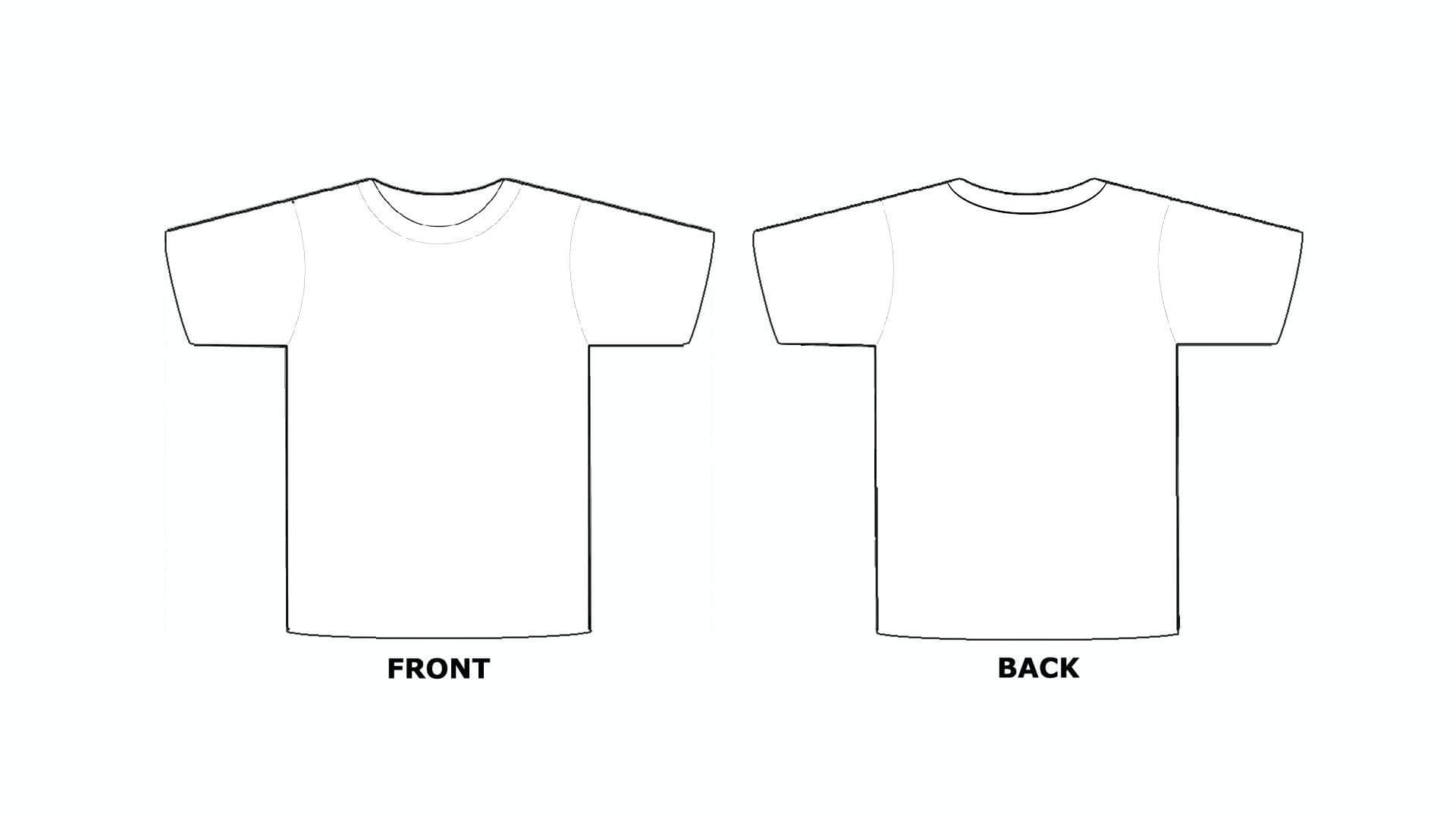 Printable Blank Tshirt Template - C Punkt With Regard To Blank Tshirt Template Pdf
