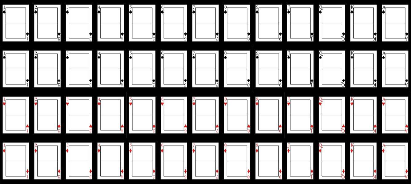 Printable Playing Card Template ] – Flash Card Template Free Within Playing Card Template Word