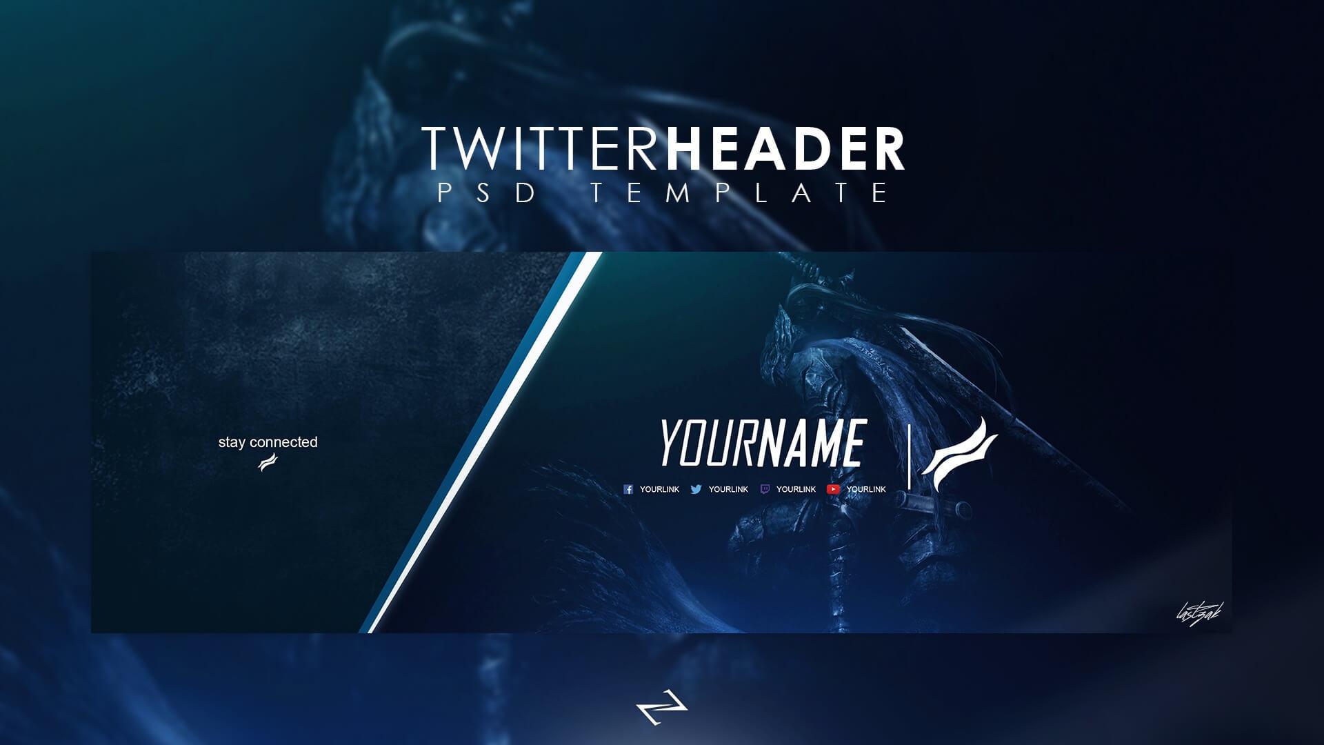 Professional Gaming Twitter Header Templatelastzak Throughout Twitter Banner Template Psd
