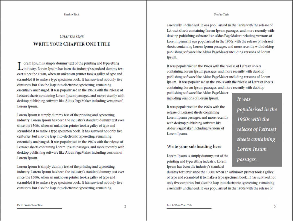 Professional Looking Book Template For Word, Free - Used To Tech Regarding 6X9 Book Template For Word