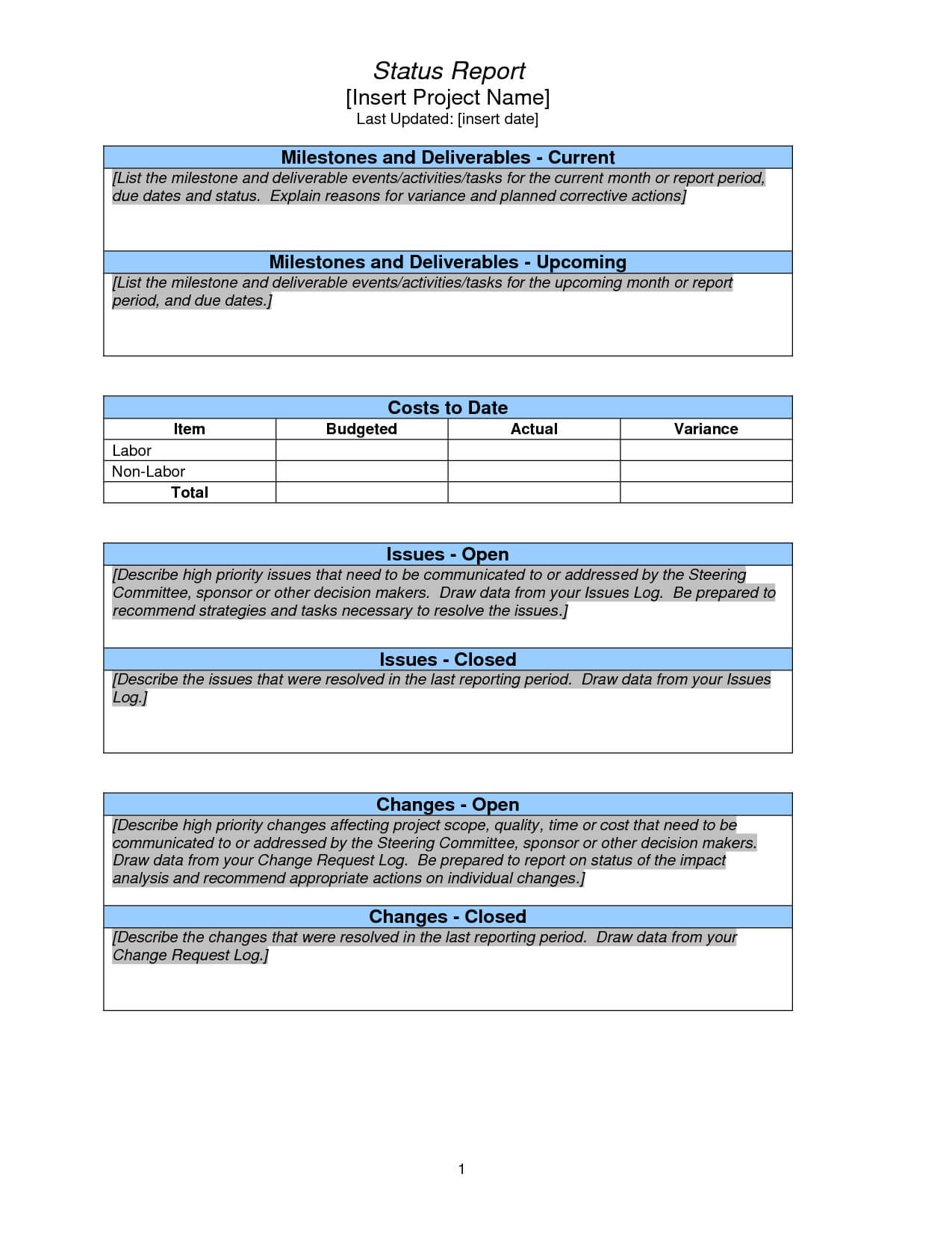 Project Status Report Template Weekly Sample Google Search Pertaining To Project Status Report Template Excel Download Filetype Xls