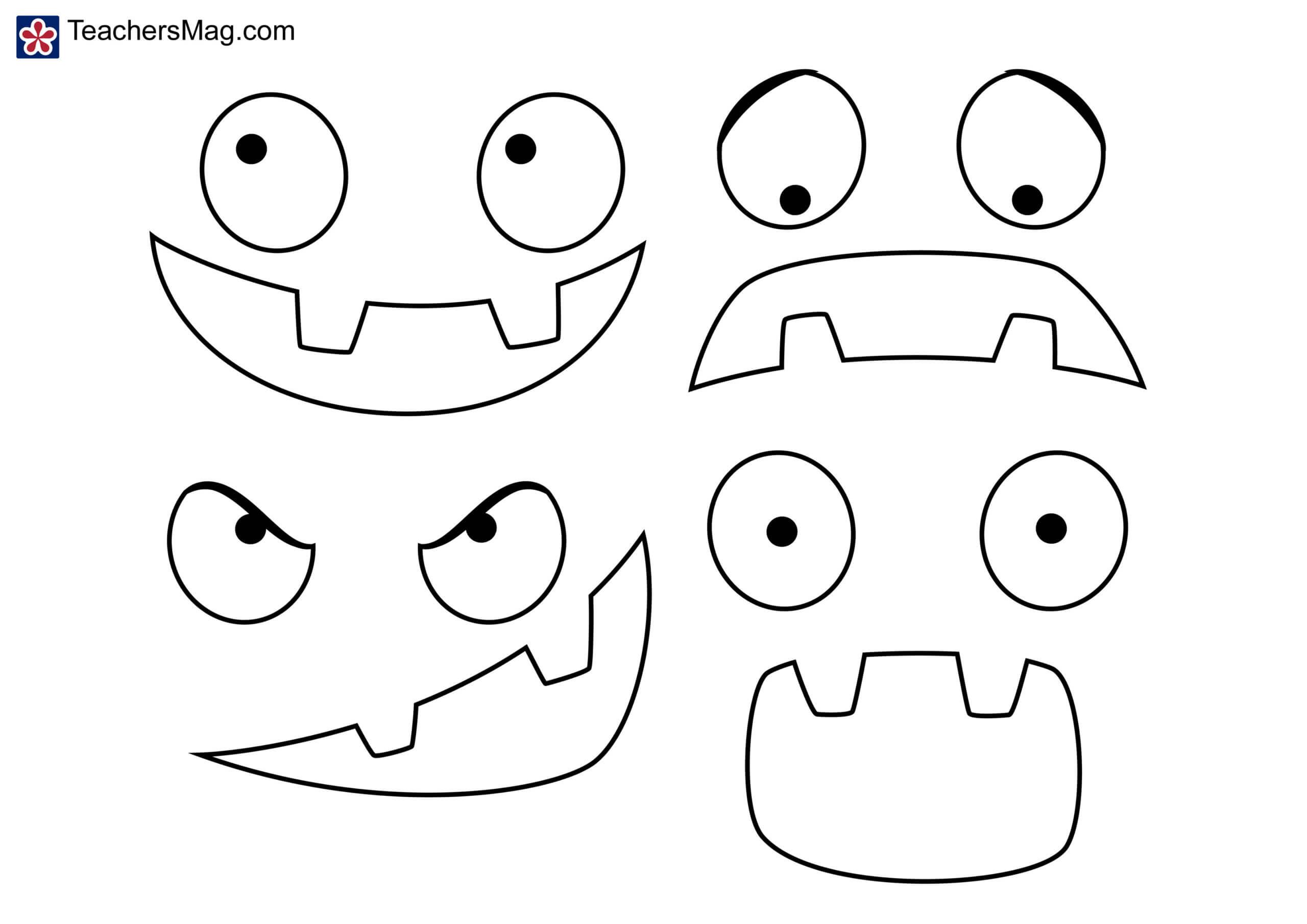 Pumpkin Emotions Activity | Teachersmag Inside Blank Face Template Preschool