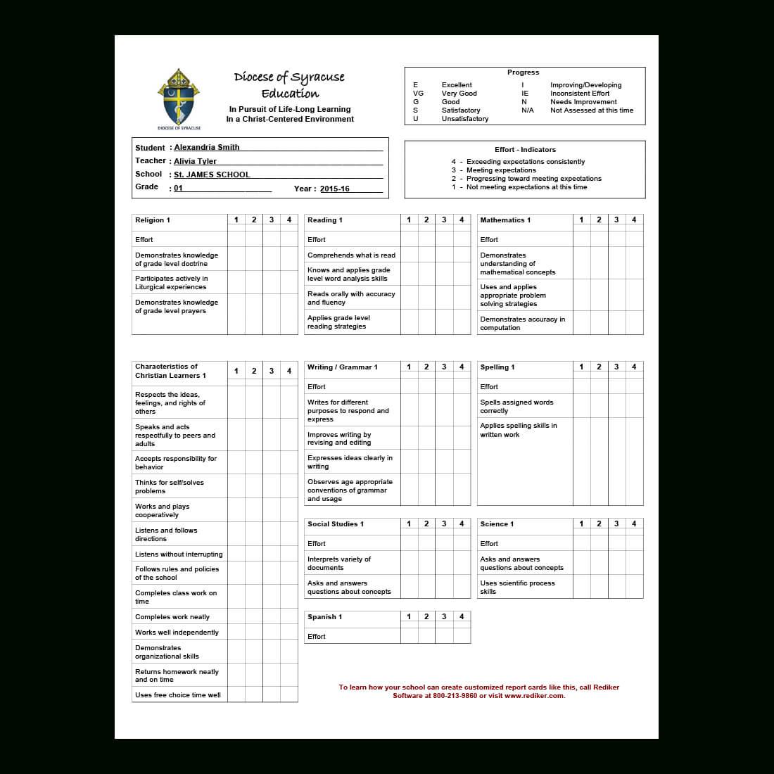Report Card Software – Grade Management | Rediker Software Pertaining To Student Grade Report Template