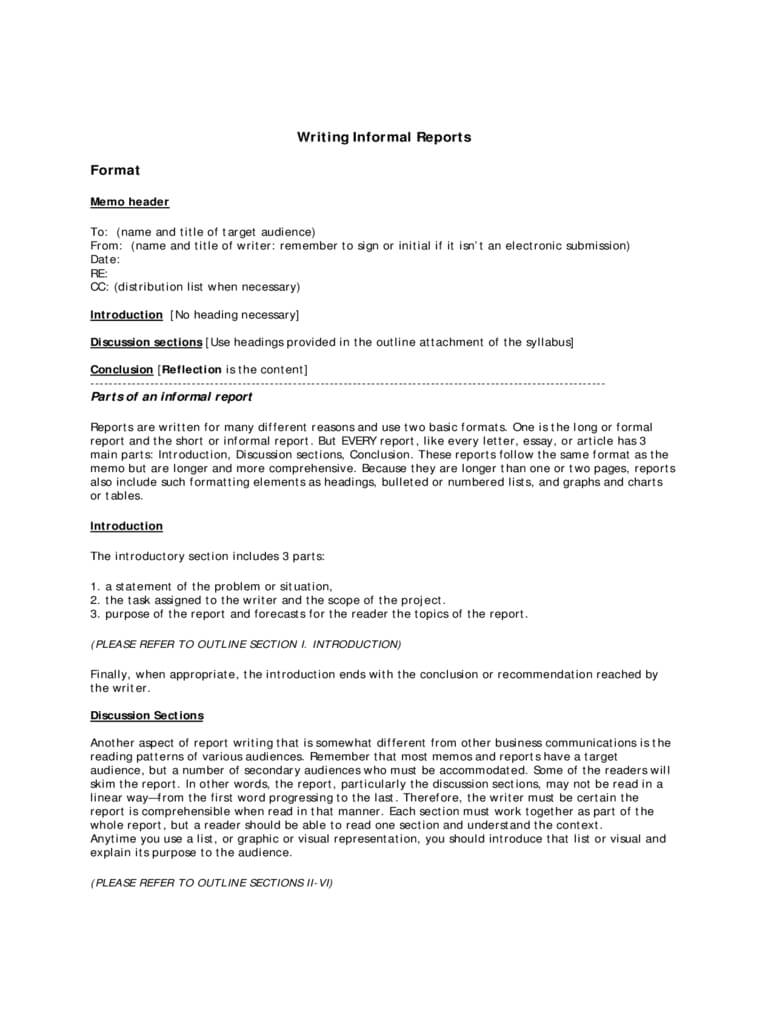 Report Writing Format - 3 Free Templates In Pdf, Word, Excel In Report Writing Template Download