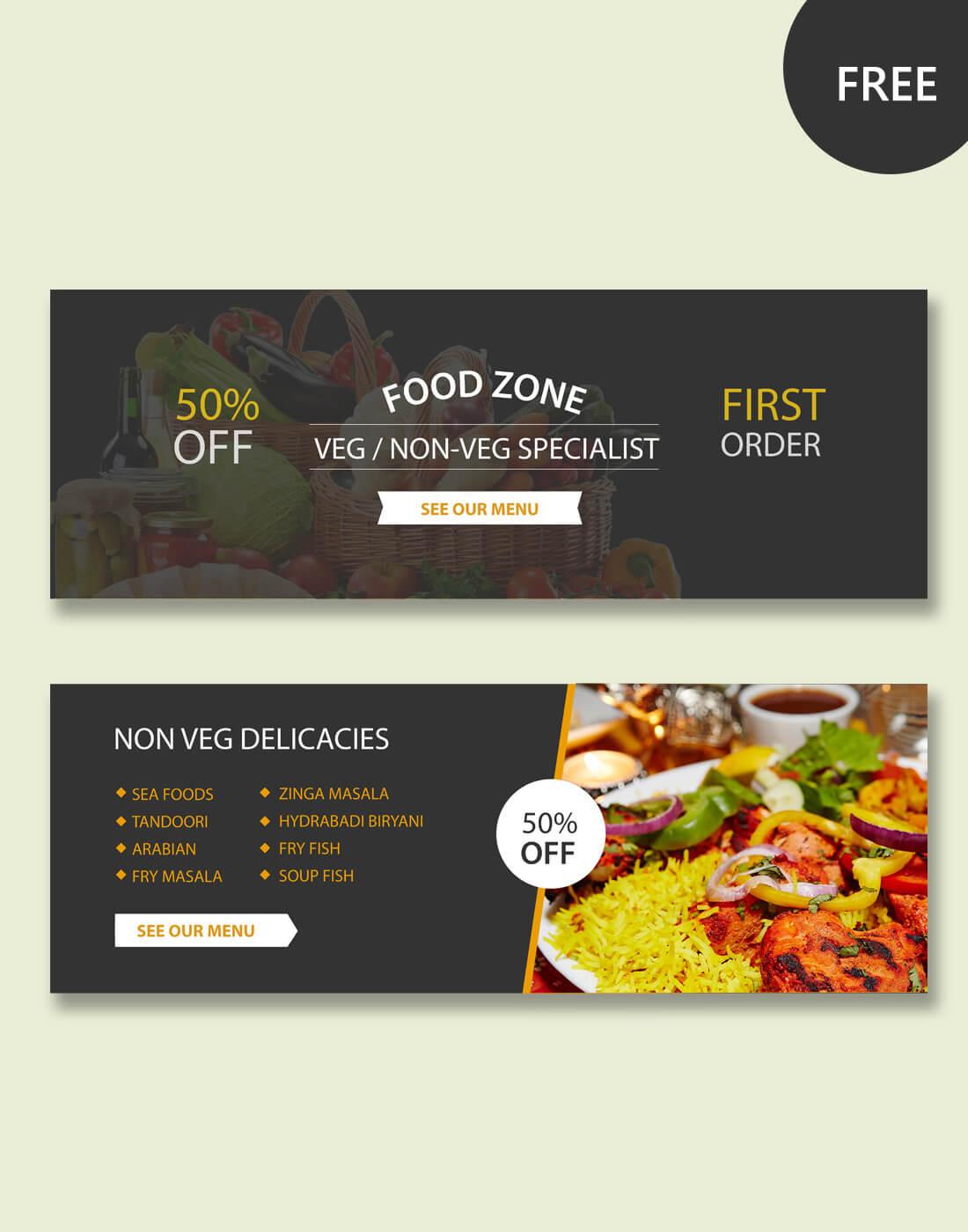 Restaurant Psd Banner Templates Regarding Food Banner Template