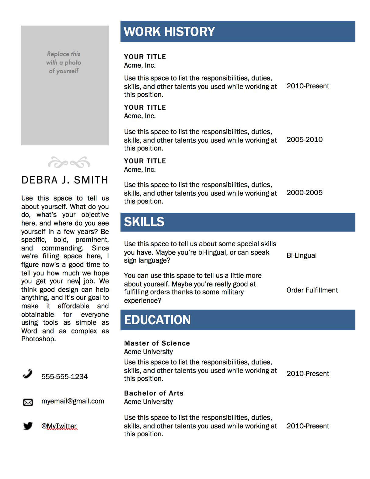 Resume Format Microsoft Word 2010 - Colona.rsd7 Intended For Resume Templates Microsoft Word 2010