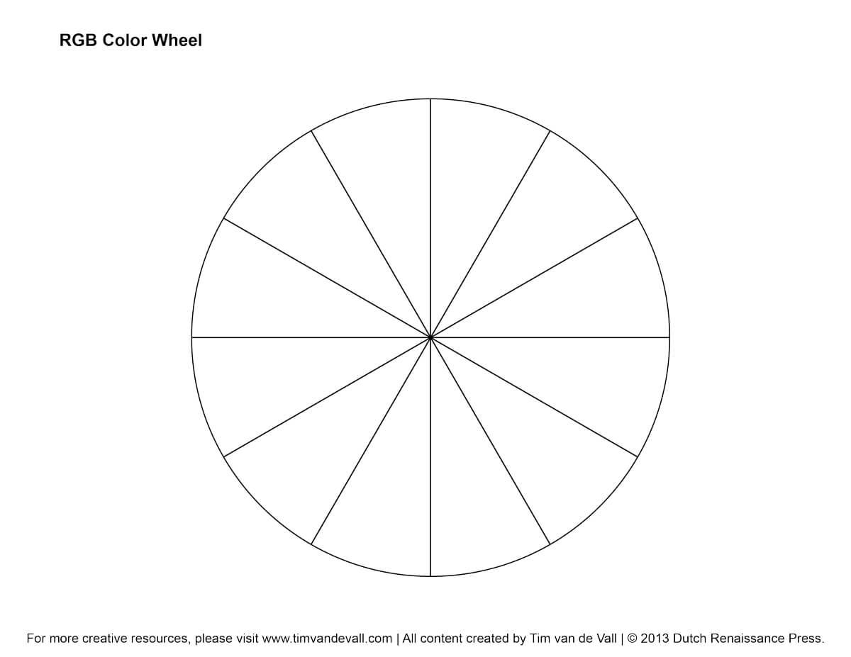 Rgb Color Wheel, Hex Values & Printable Blank Color Wheel With Blank Color Wheel Template