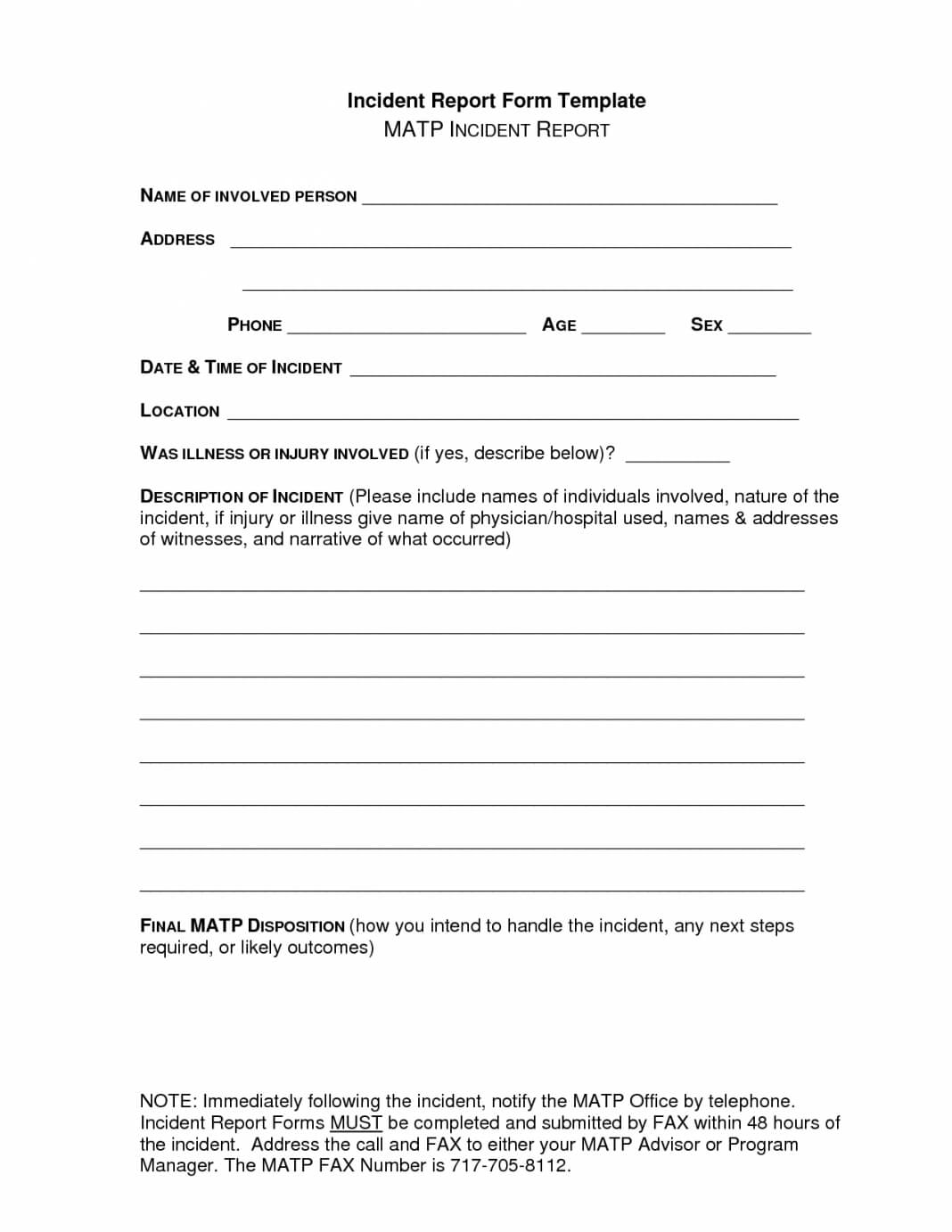 Riding Ool Accident Report Forms Form Pdf Sample Letter Inside School Incident Report Template