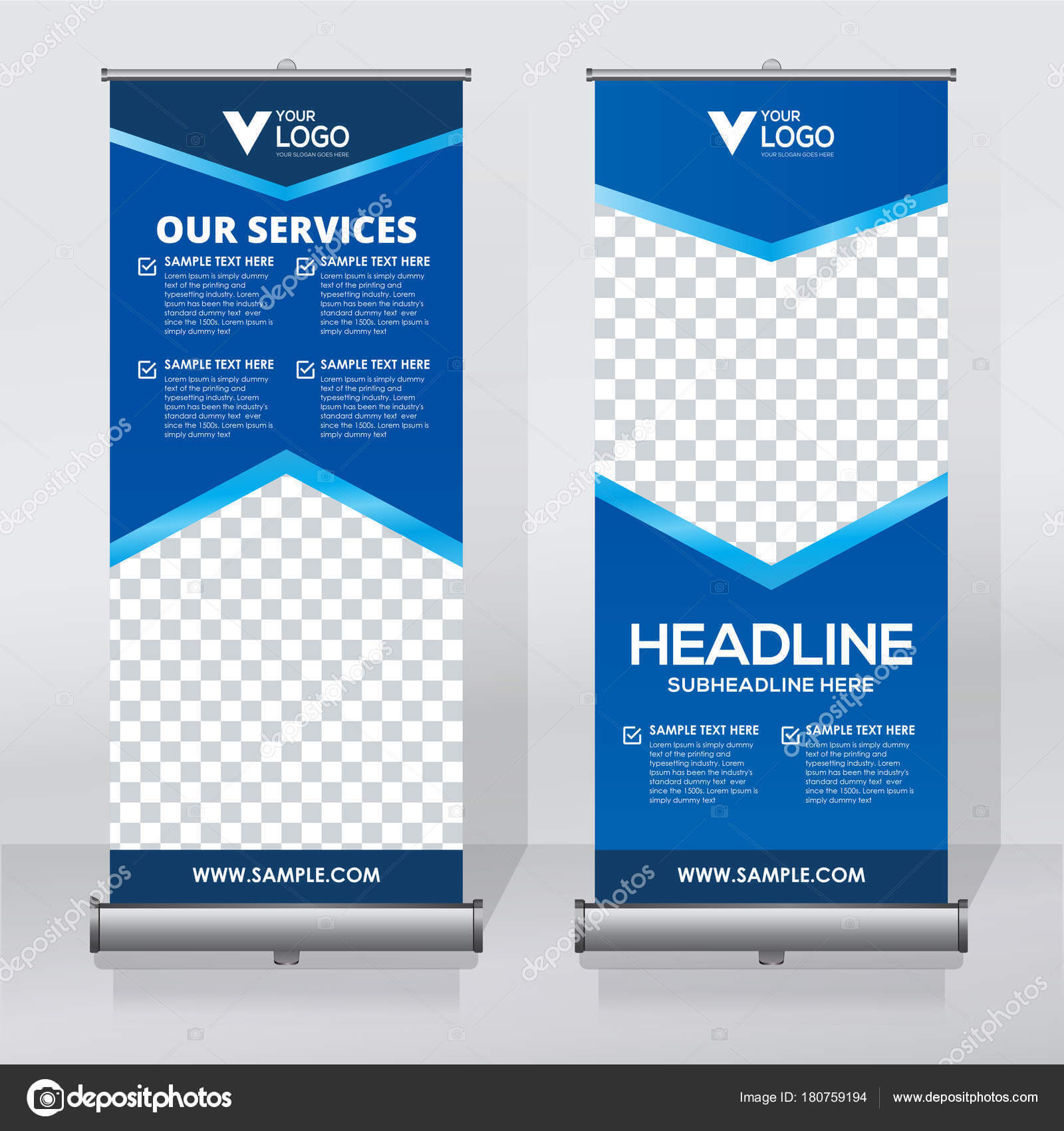 Roll Banner Design Template Vertical Abstract Background Intended For Retractable Banner Design Templates