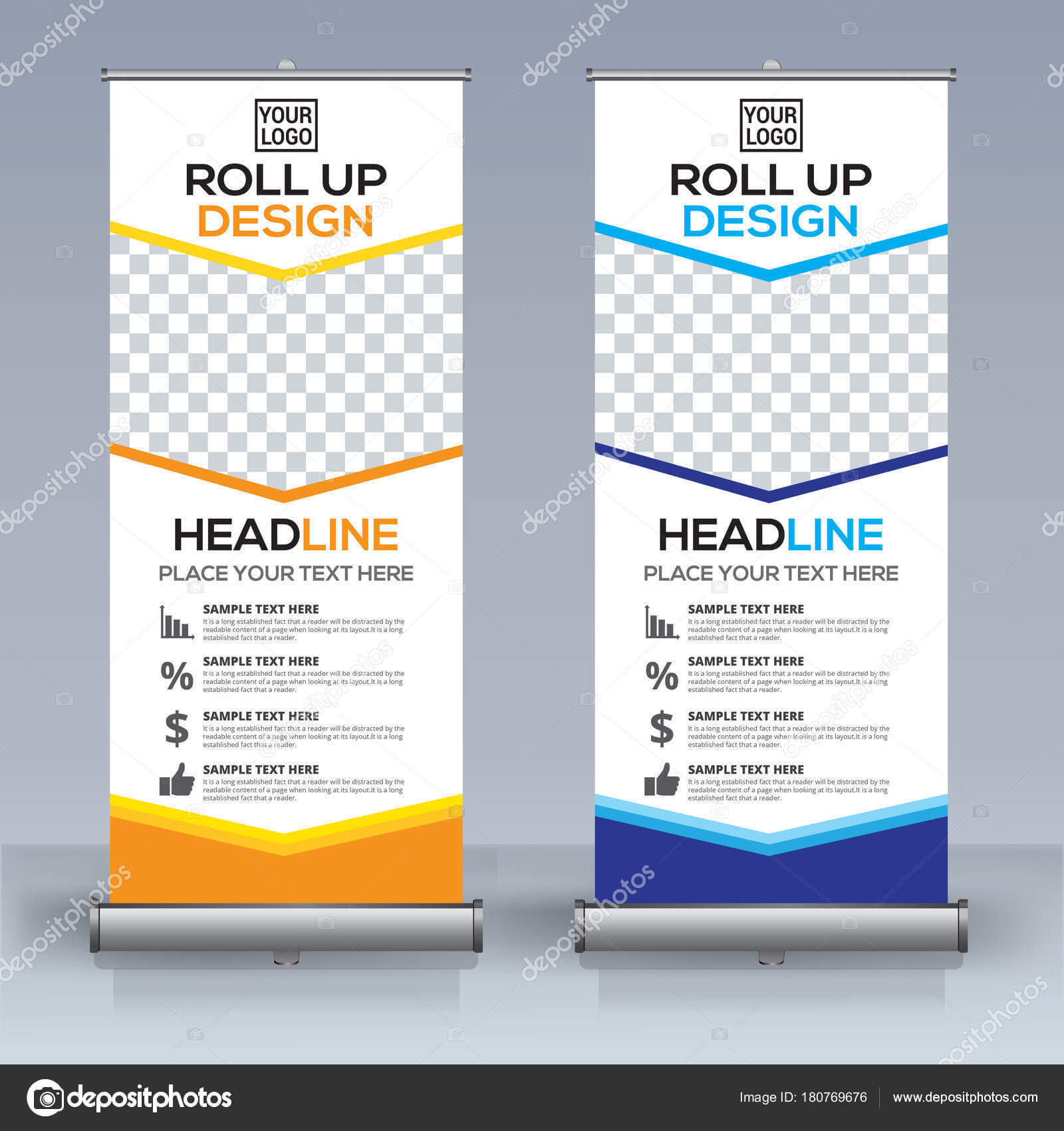 Roll Banner Design Template Vertical Abstract Background Within Retractable Banner Design Templates