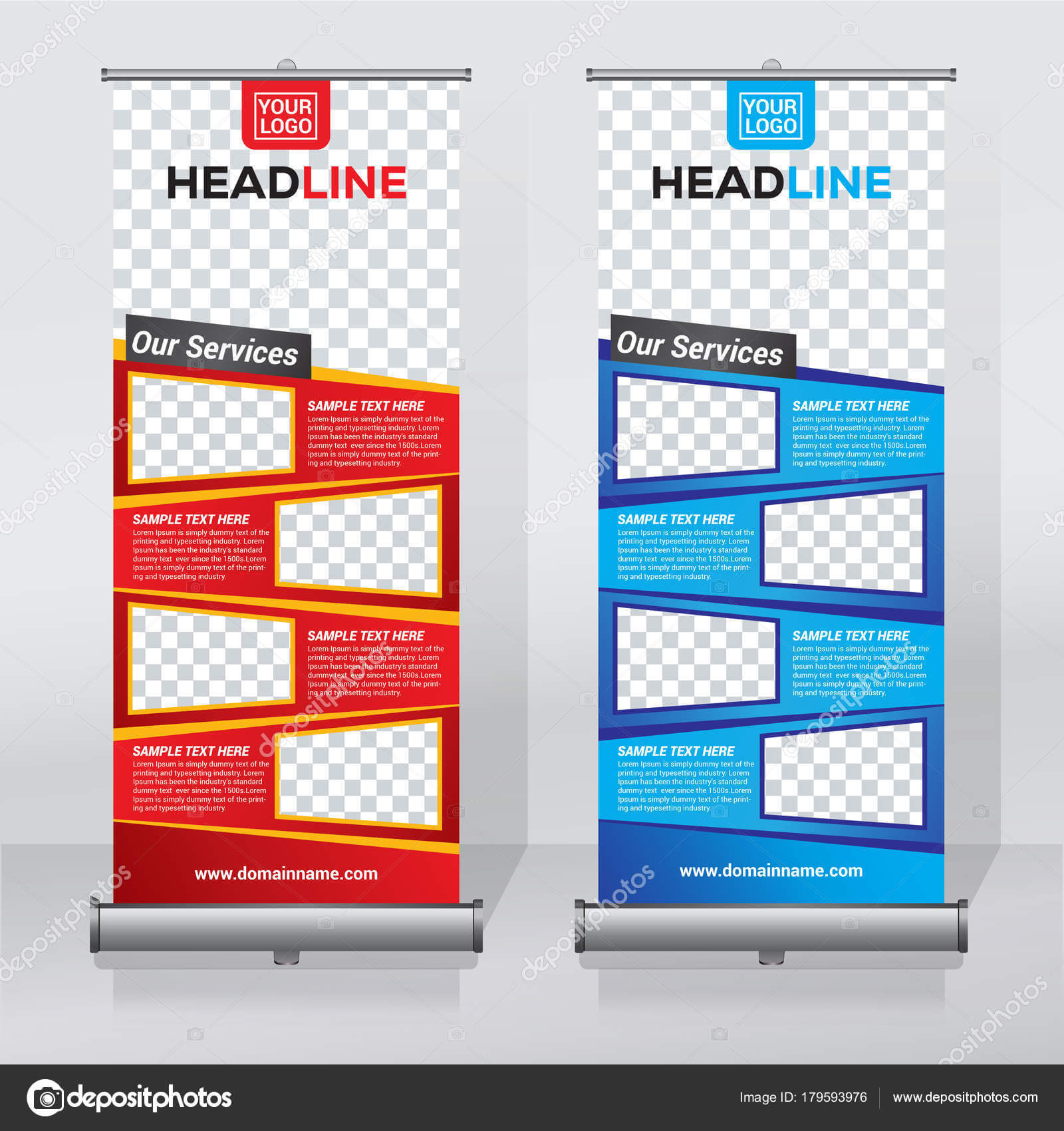 Roller Banner Design   Roll Banner Design Template Abstract In Retractable Banner Design Templates