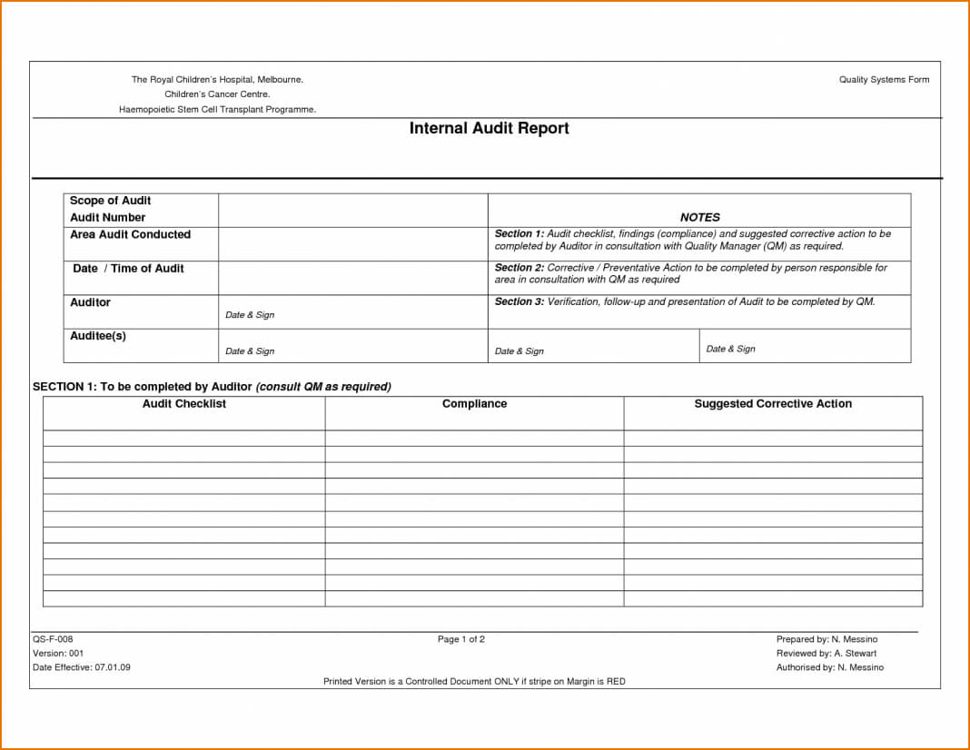 Sample Internal Audit Report Kpmg And Findings Philippines With Regard To Iso 9001 Internal Audit Report Template