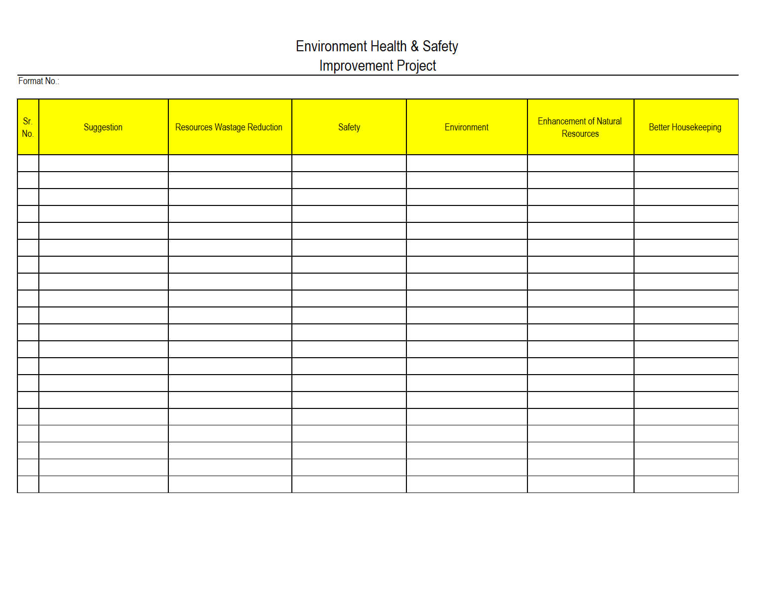 Sample Safety Report Format Examples Monthly Health And Annual With Regard To Monthly Health And Safety Report Template