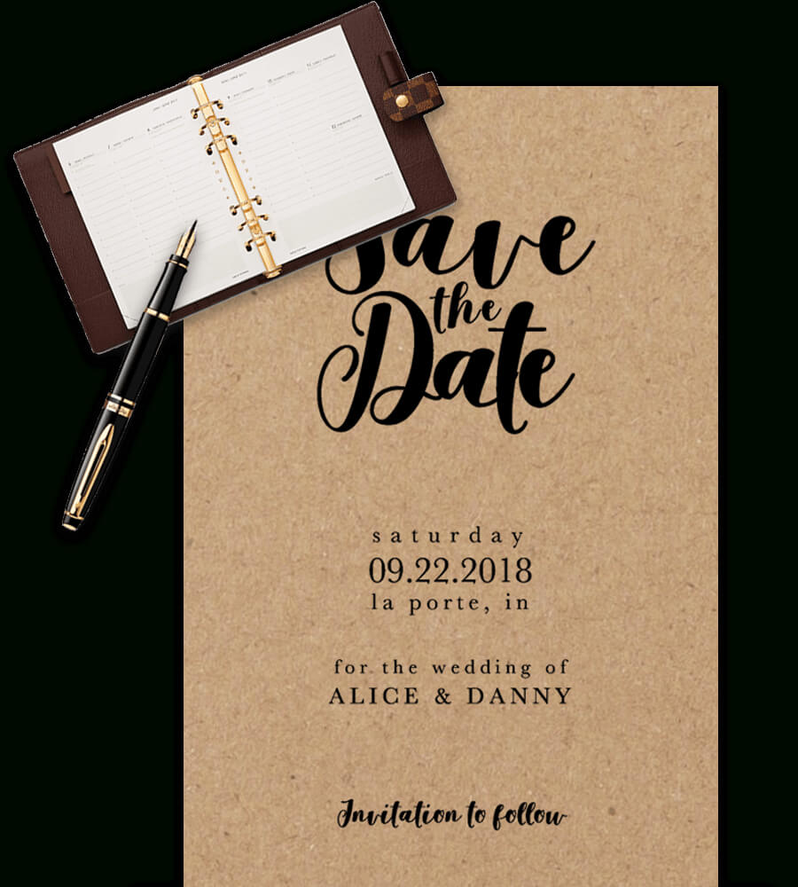 Save The Date Templates For Word [100% Free Download] For Save The Date Templates Word