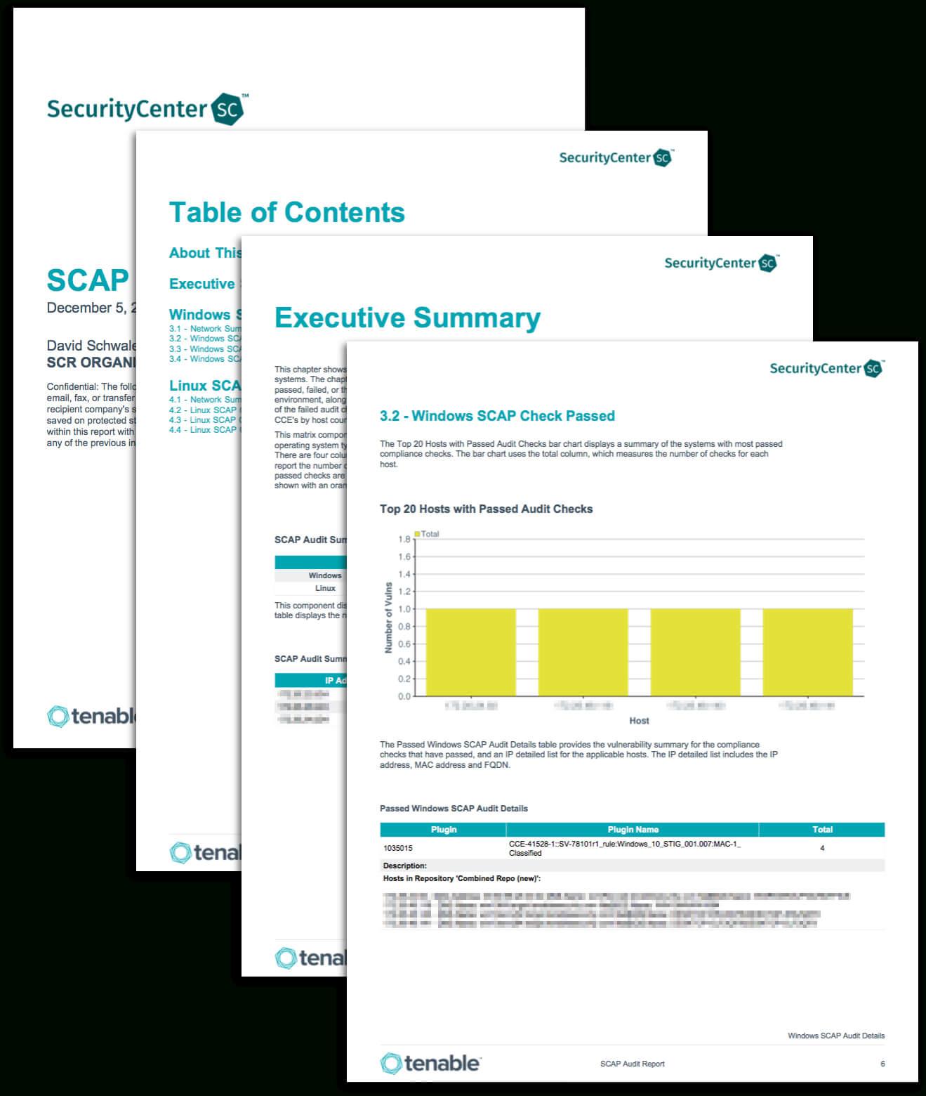 Scap Audit Report - Sc Report Template | Tenable® Inside Data Center Audit Report Template