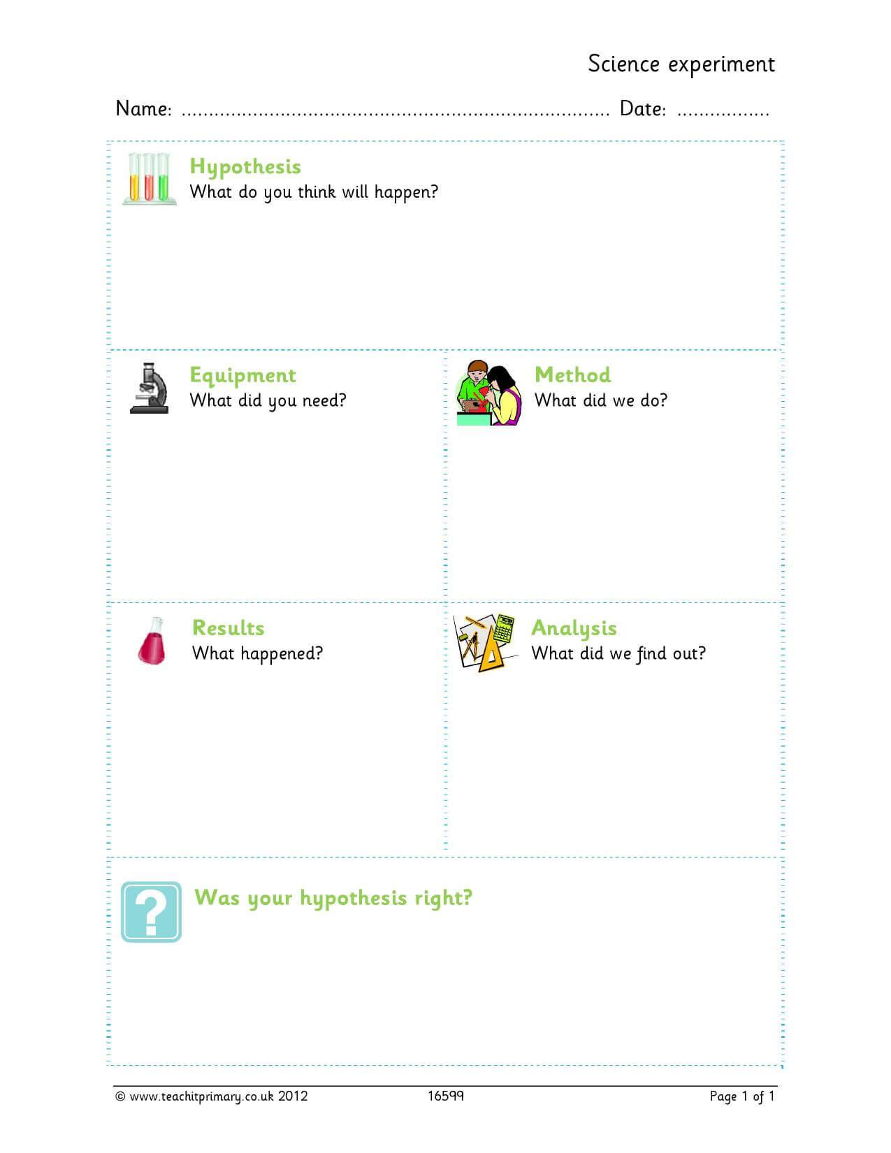 Science Experiment Template Inside Science Report Template Ks2