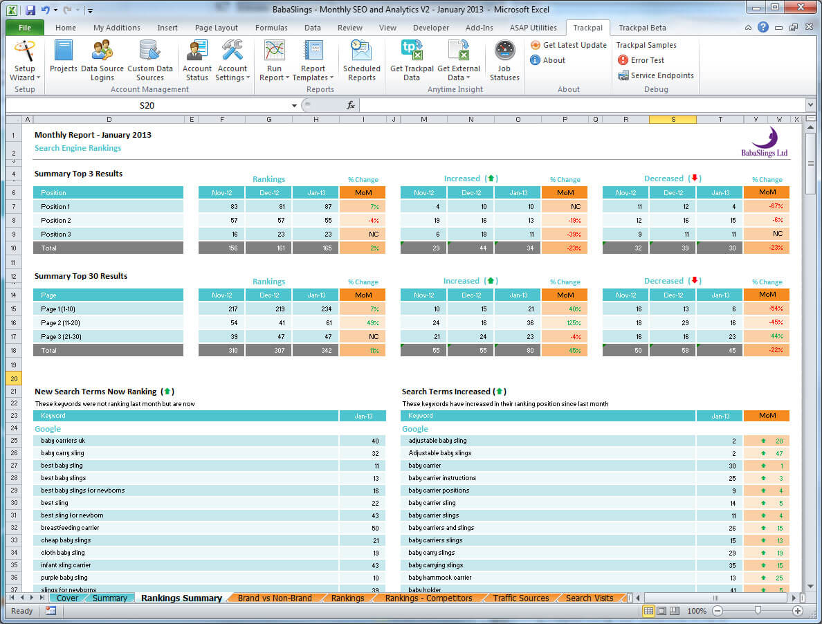 Seo Monthly Report Template] Seo Report Template Free Excel In Seo Report Template Download