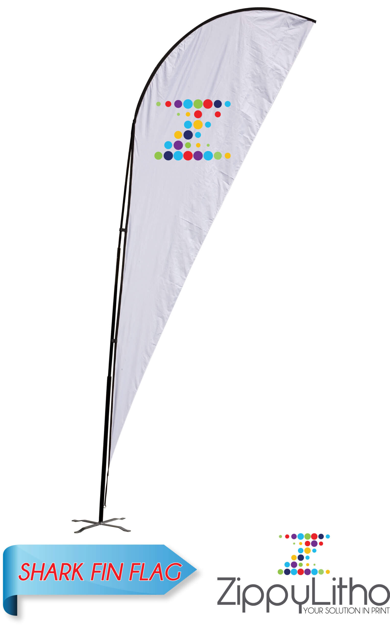 Shark Fin Flag   Zippy Litho Pertaining To Sharkfin Banner Template