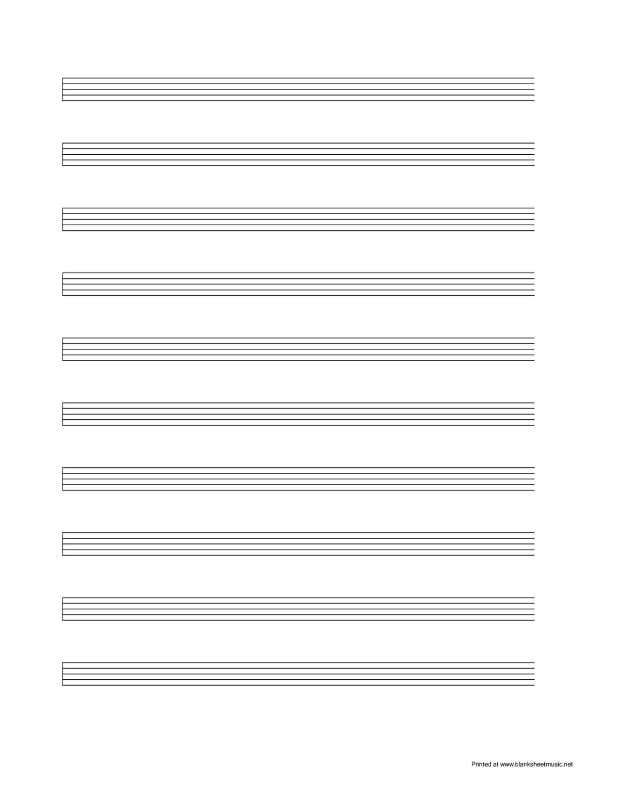 Sheet Music Template Blank For Word Free Pdf Spreadsheet Regarding Blank Sheet Music Template For Word