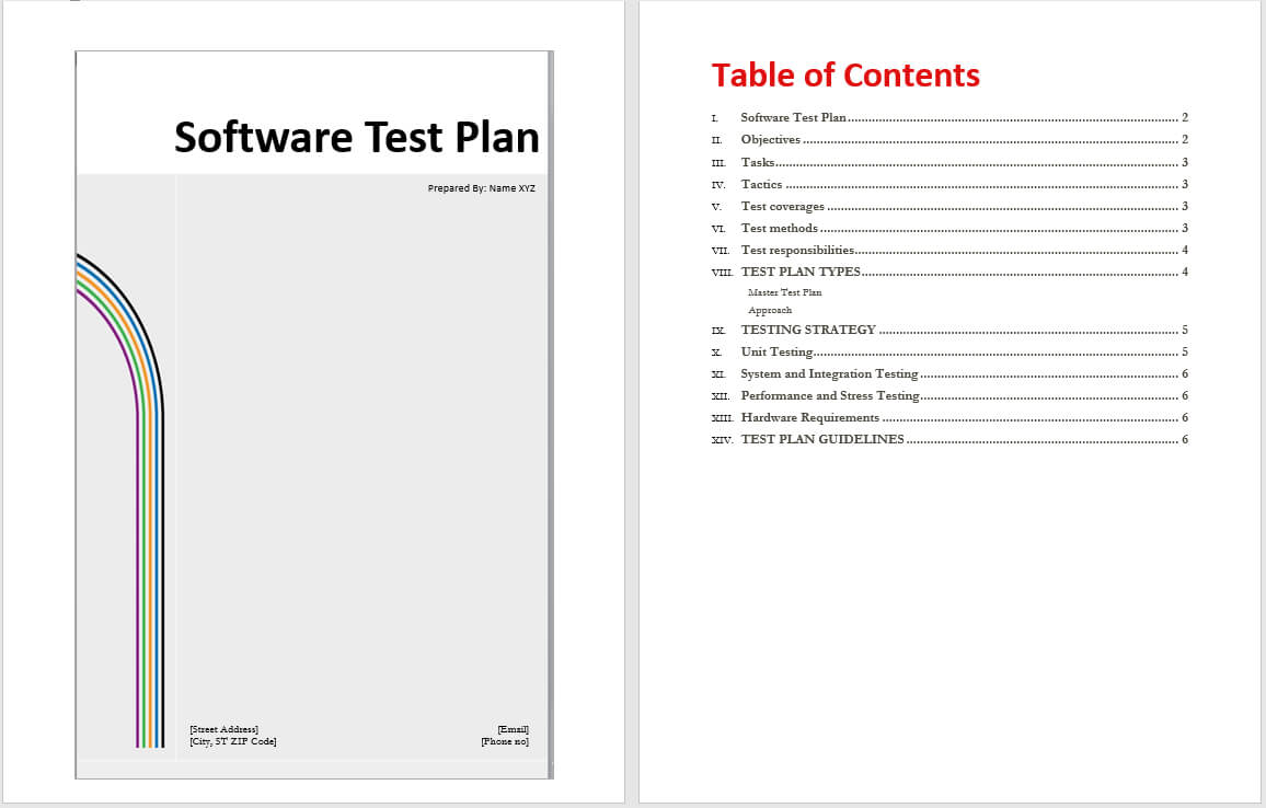Software Test Plan Template - Word Templates Regarding Software Test Plan Template Word
