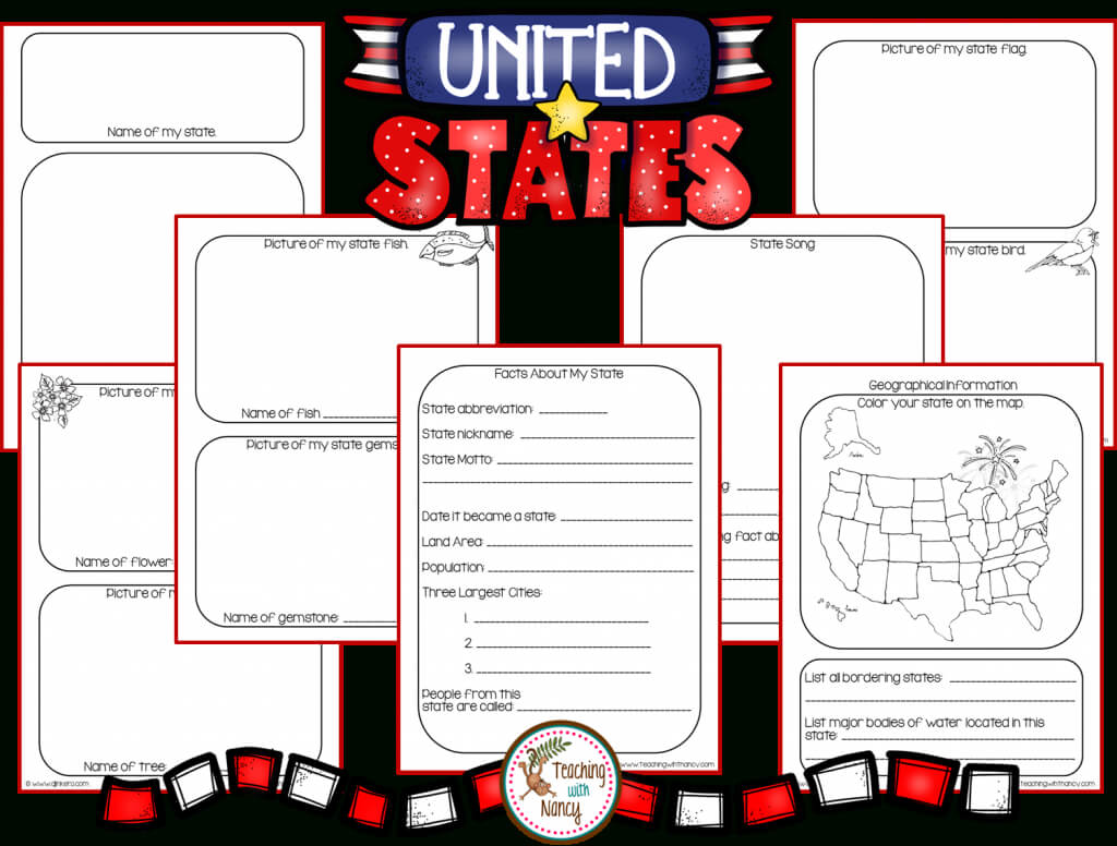 State Report Research Project Made Easy! | Teaching With Nancy For State Report Template