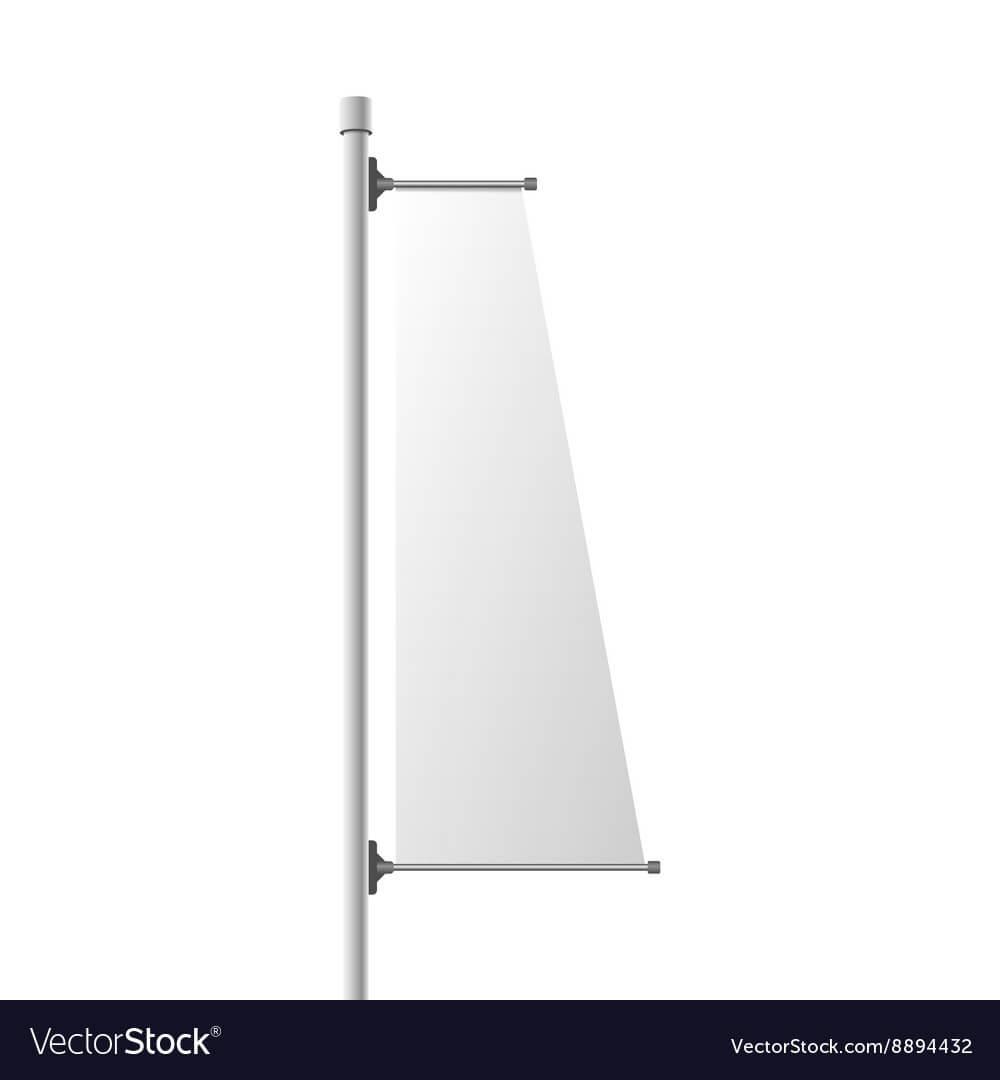 Street Vertical Banner Realistic Template Regarding Street Banner Template