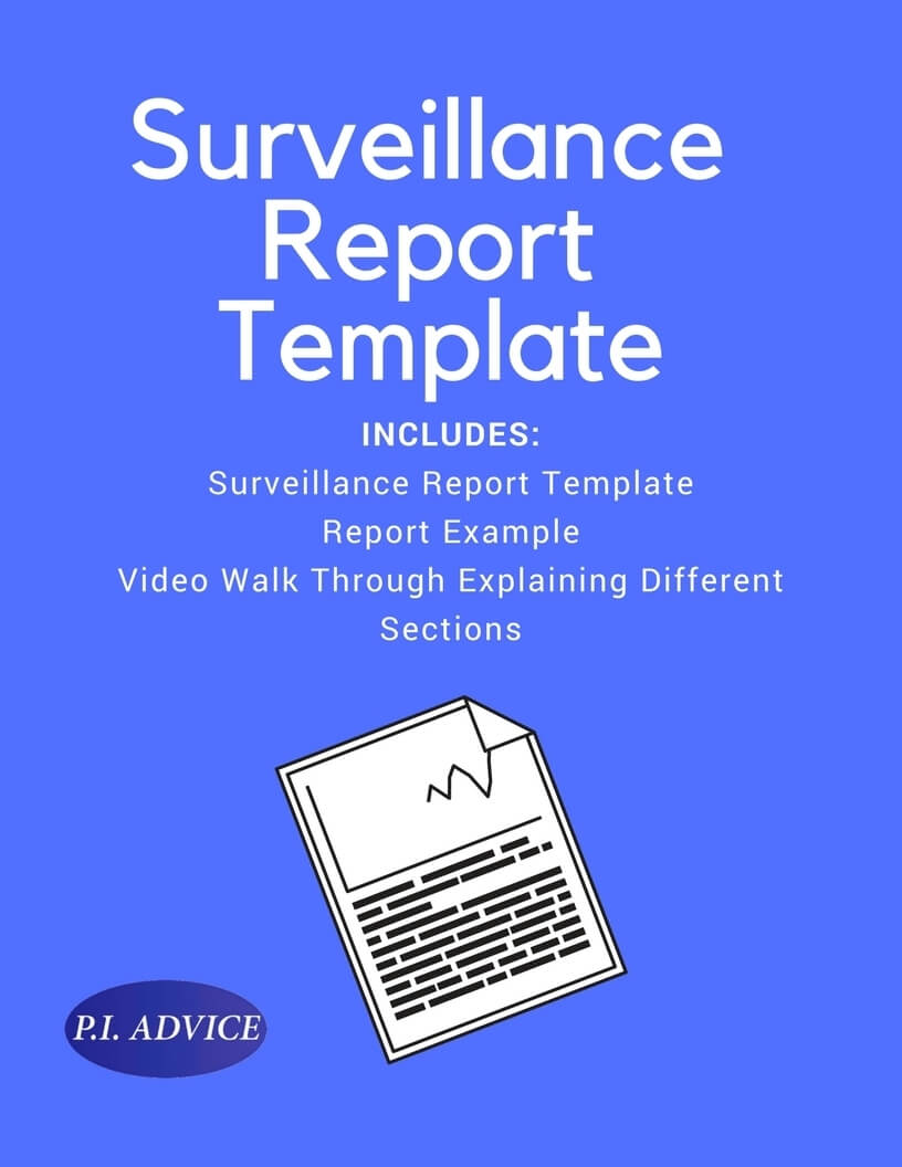 Surveillance Report Template In Private Investigator Surveillance Report Template