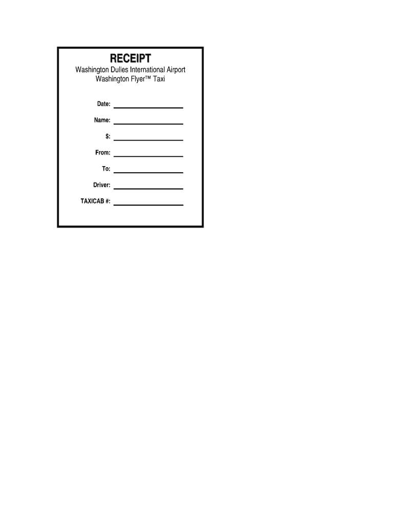 Taxi Receipt Generator – Fill Online, Printable, Fillable With Blank Taxi Receipt Template